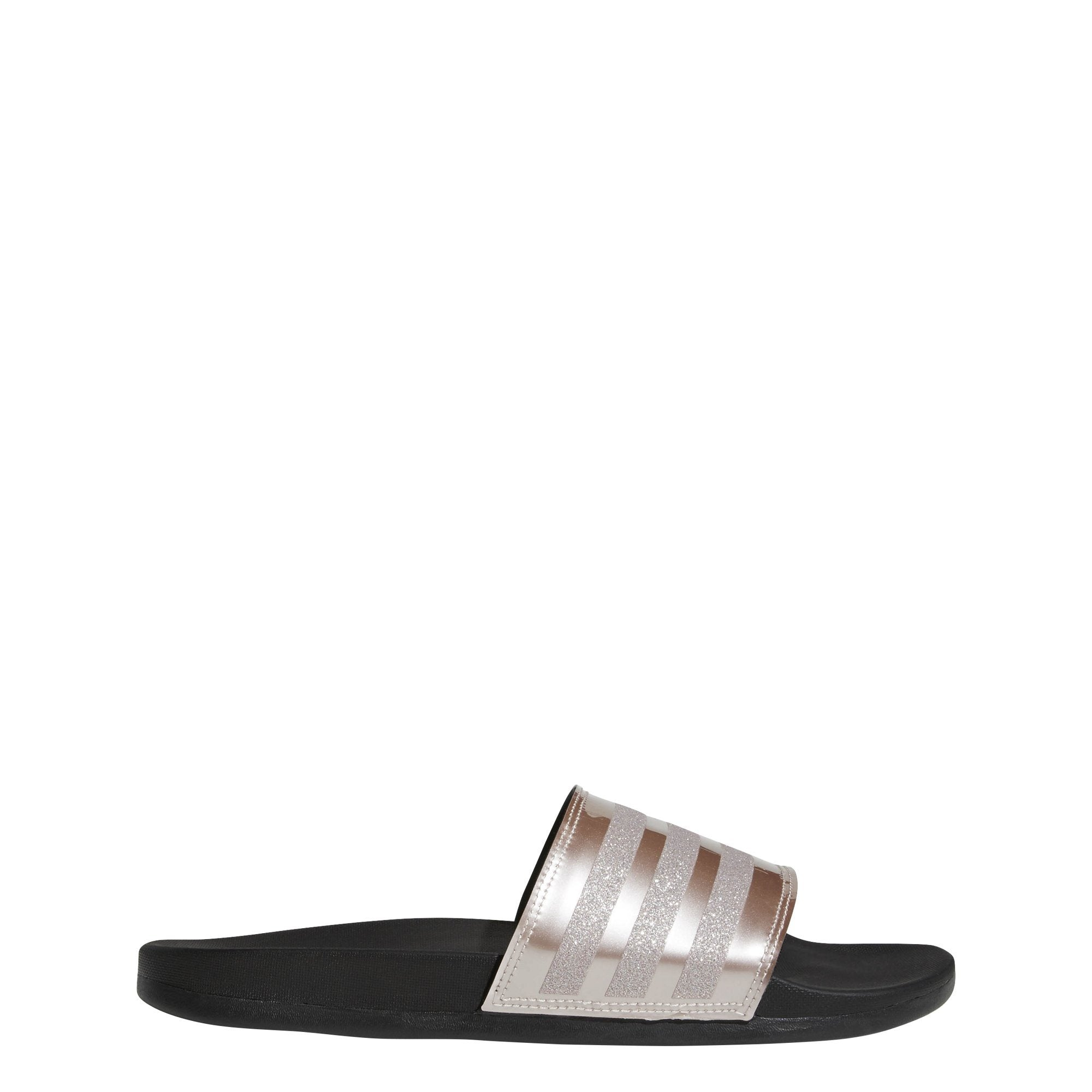 Adidas Adilette Comfort Slides - Vapour Grey Metallic/Core Black SP-Footwear-Slides Adidas