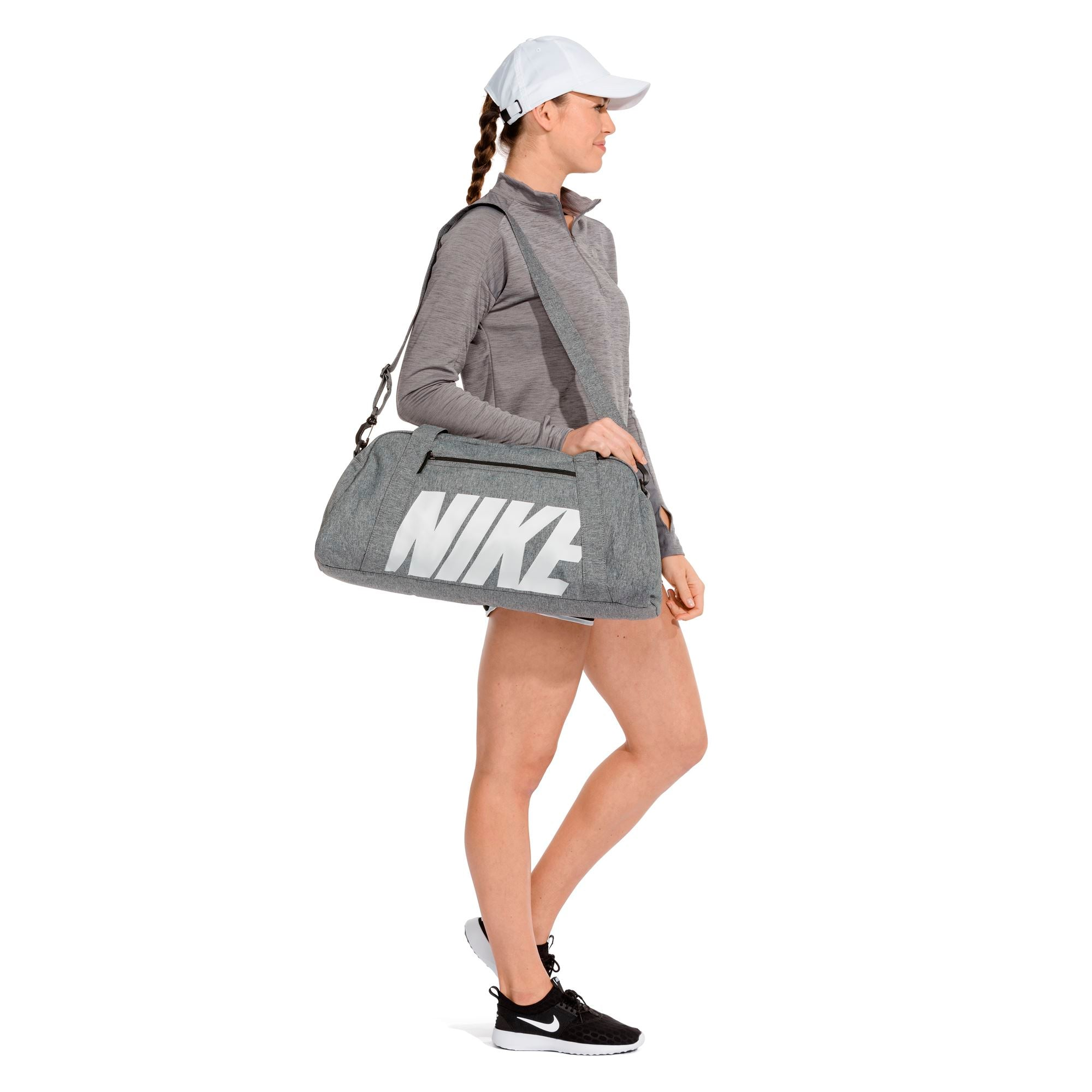 Nike Womens Gym Club Duffel Bag - Black/Black/Vast Grey SP-Accessories-Bags Nike