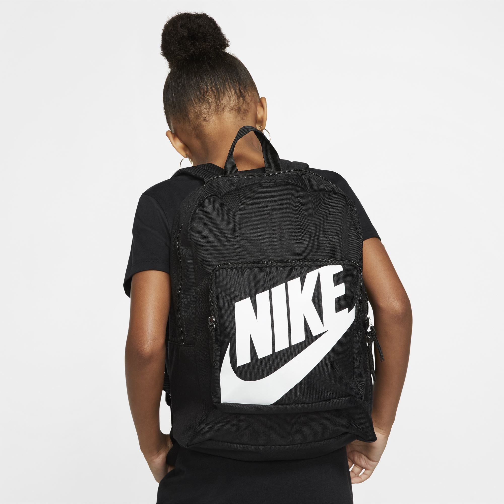 Nike Classic Backpack - Black/Black/White SP-Accessories-Bags Nike