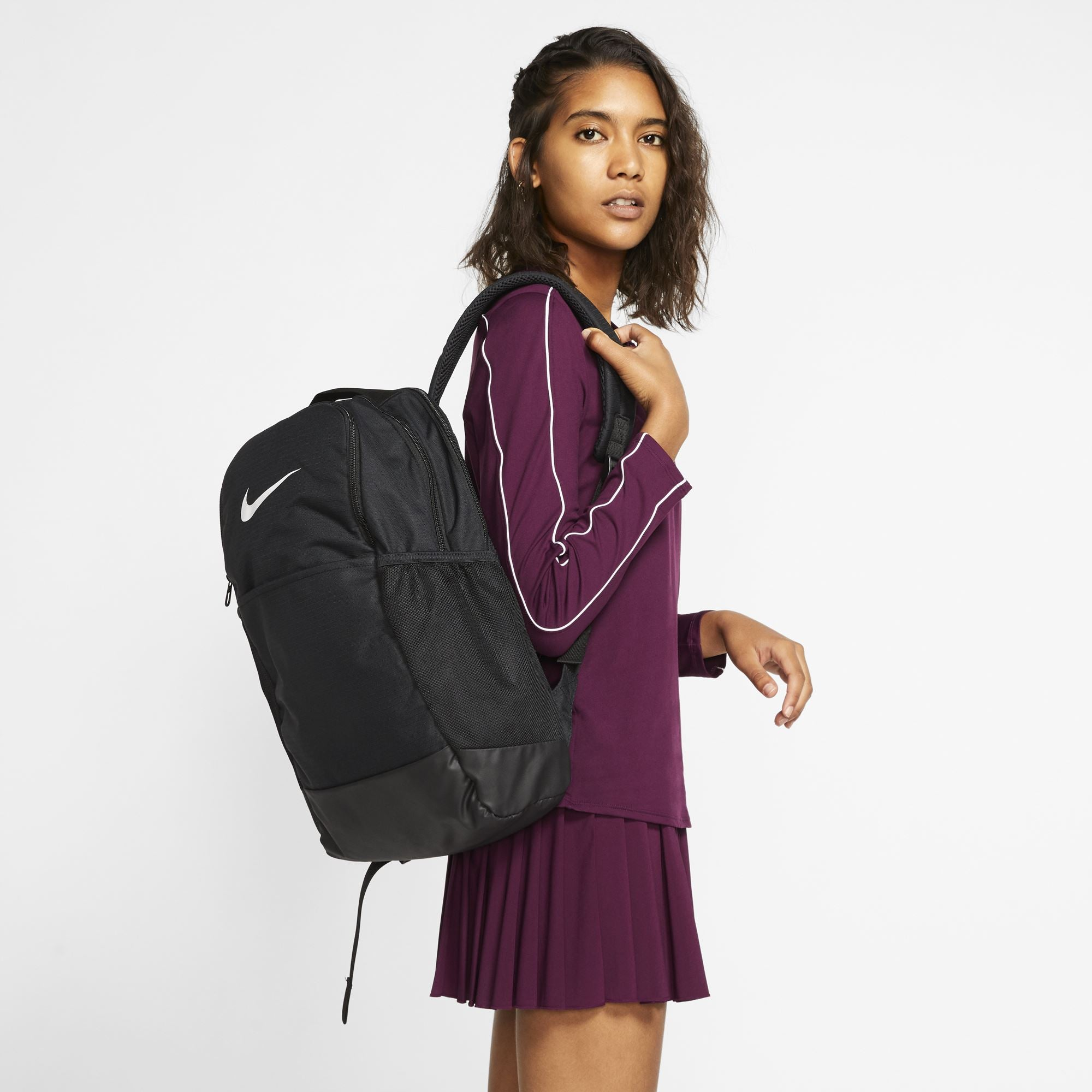 Nike Brasilia M Training Backpack (Medium) - Black/Black/White SP-Accessories-Bags Nike