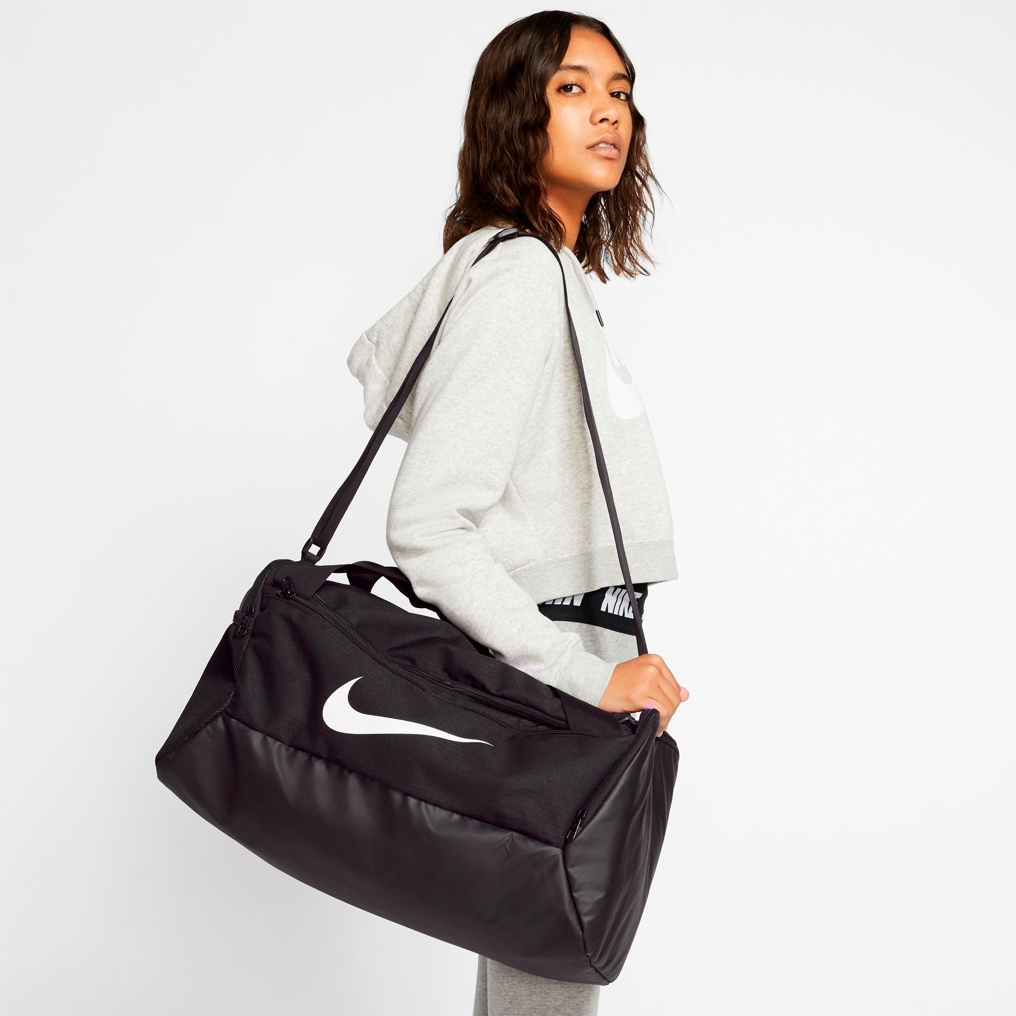 Nike Brasilia Duffle Bag (Small) - Black/Black/White SP-Accessories-Bags Nike