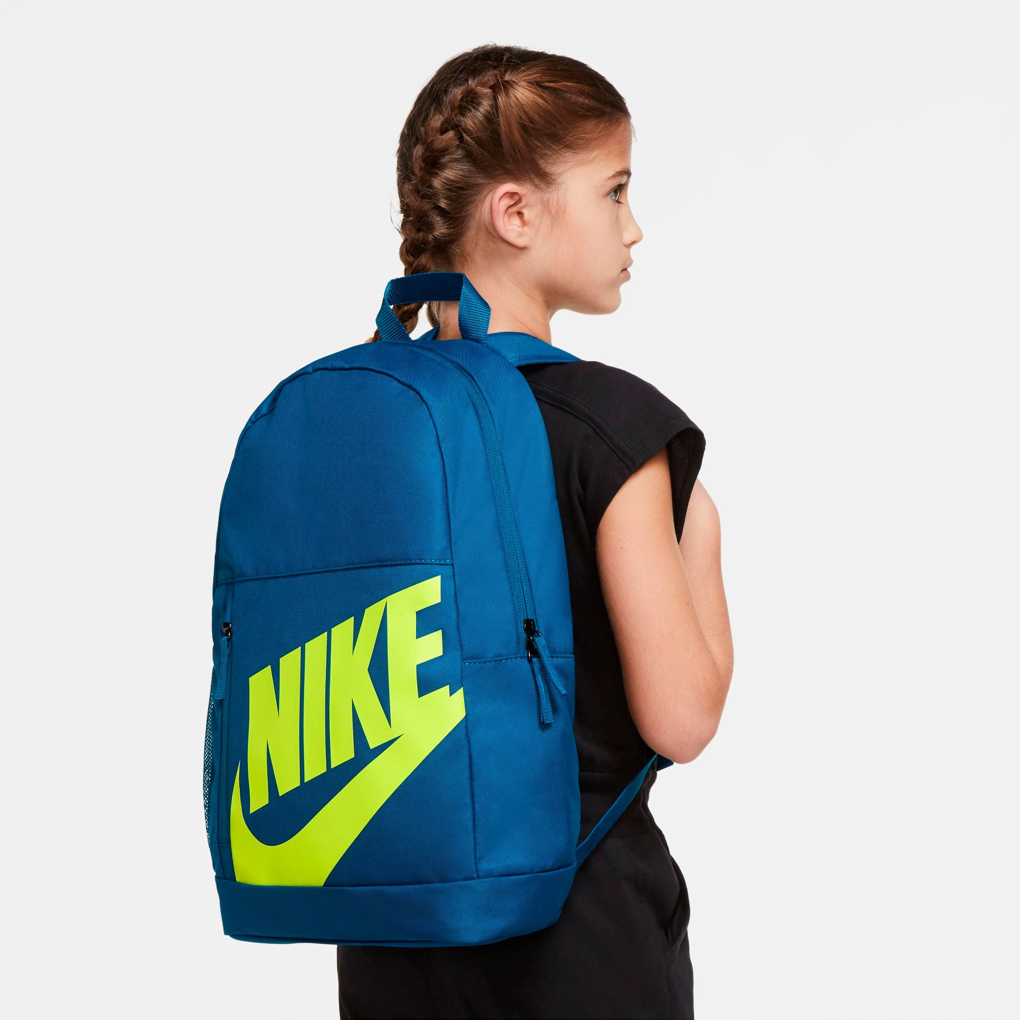 Nike Kids Elemental Backpack - Green Abyss/Volt SP-Accessories-Bags Nike