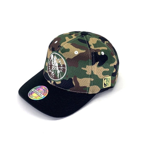 Mitchell & Ness Mesh Camo Snapback - Boston Celtics Hats Mitchell & Ness