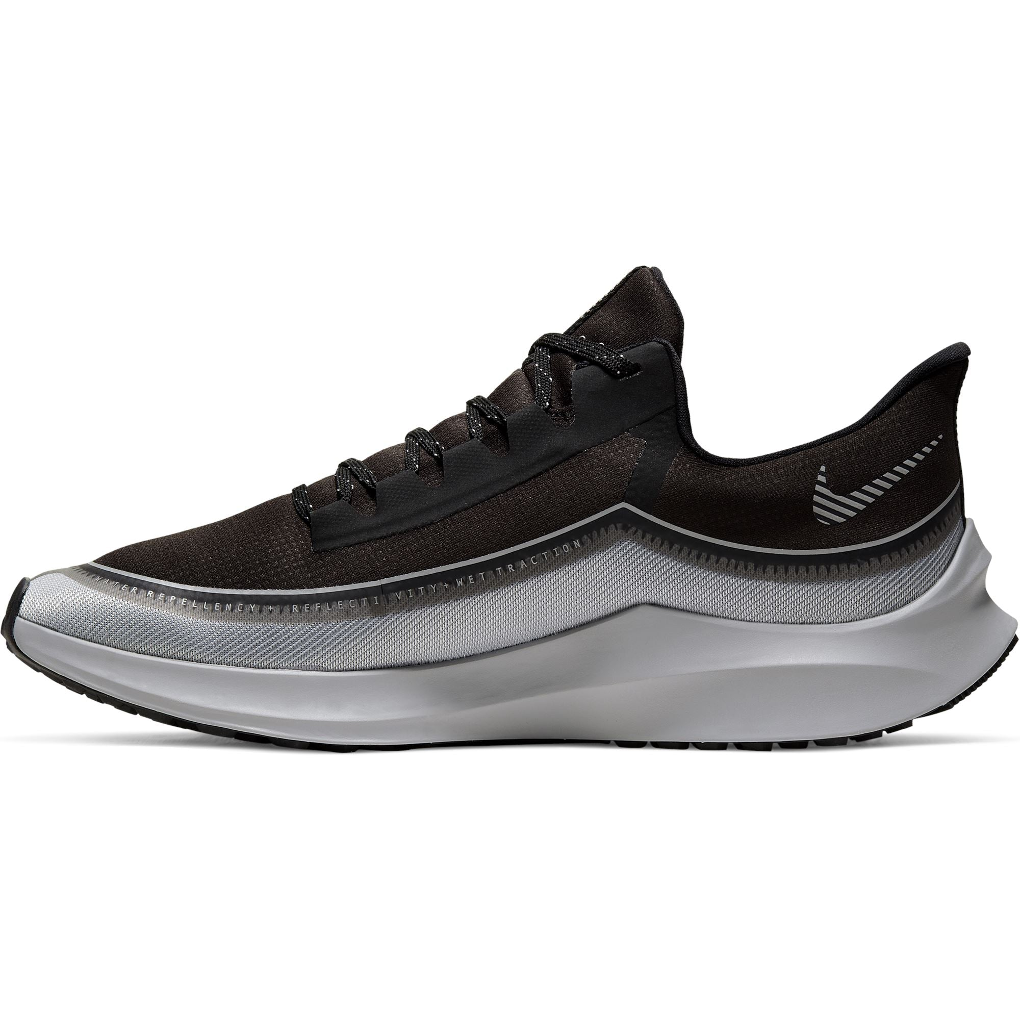 Nike Mens Zoom Winflo 6 Shield Sneaker - Black/Reflect Silver-Wolf Grey SP-Footwear-Mens Nike