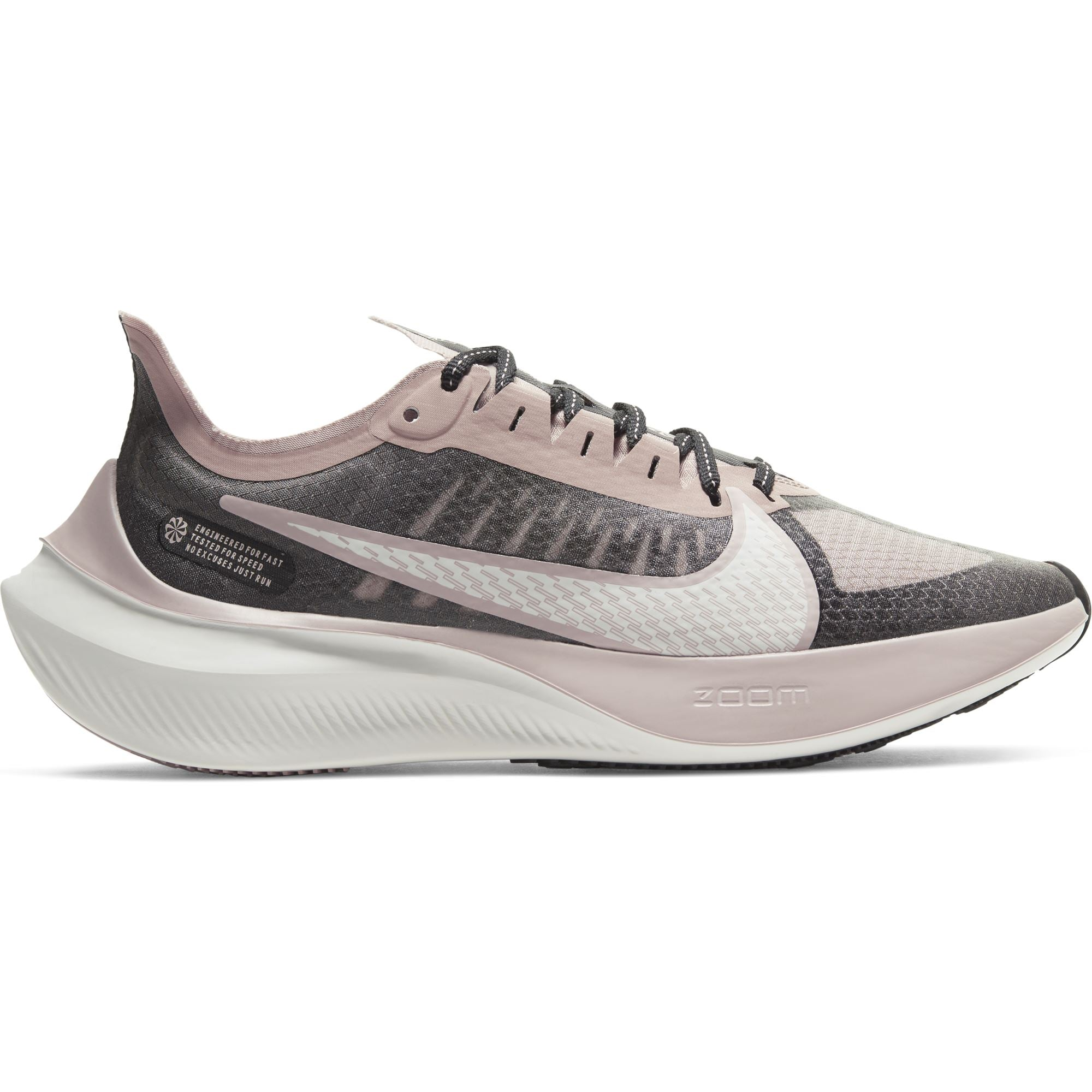 Nike Women's Zoom Gravity Running Shoe - Black/Platinum Tint/Stone Mauve SP-Footwear-Womens Nike