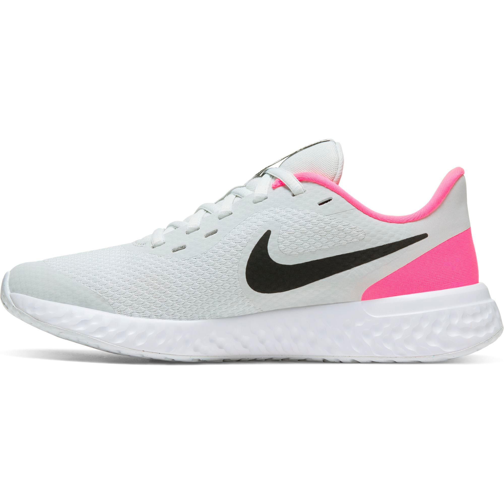 Nike Big Kids Revolution 5 - Photon Dust/Black-Hyper Pink-White SP-Footwear-Kids Nike