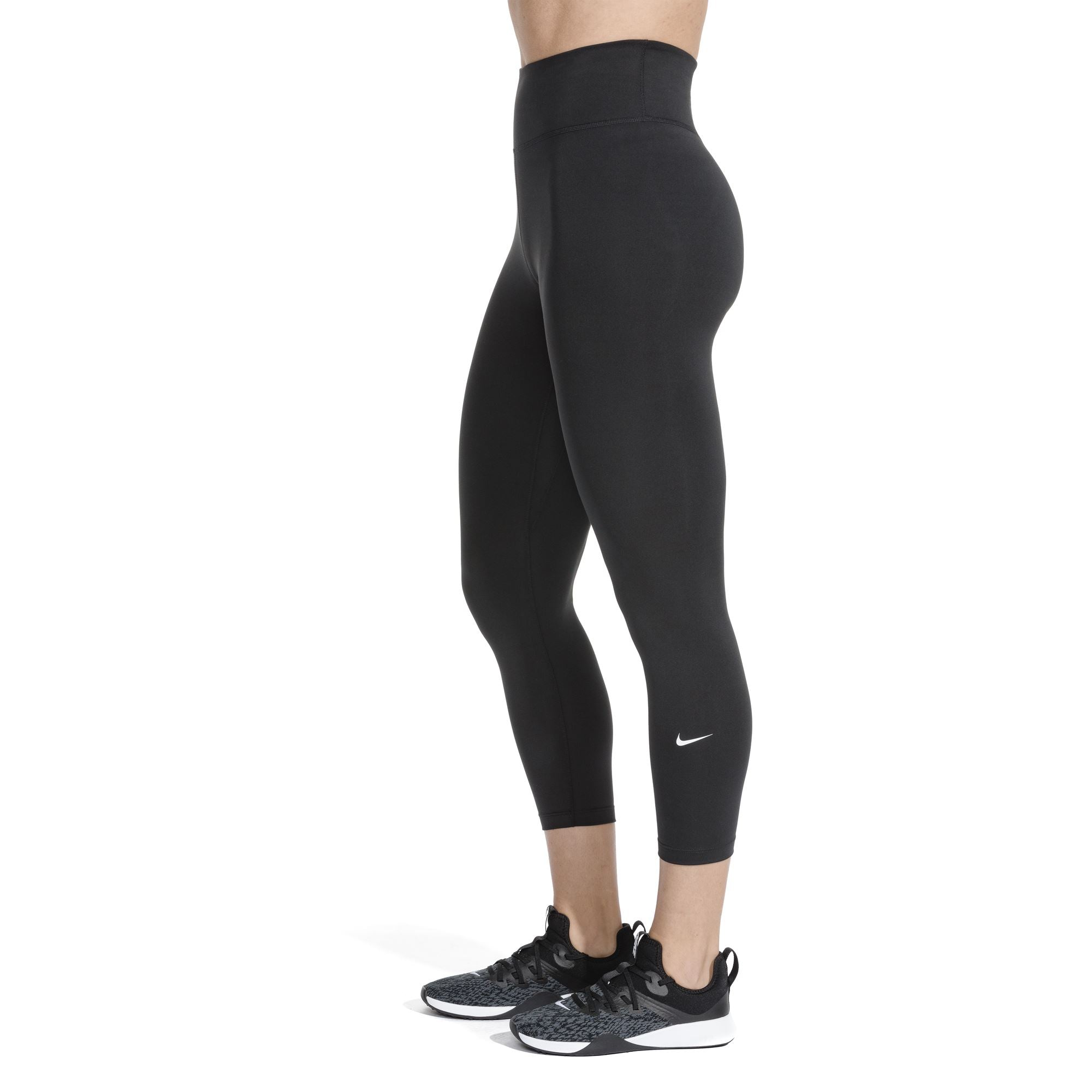 Nike Womens One Crop Tights - Black/White SP-ApparelTights-Womens Nike
