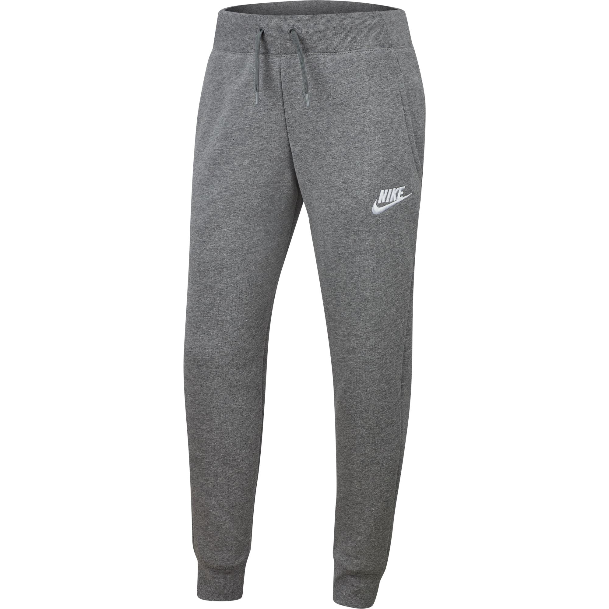 Nike Sportswear Big Kids (Girls) Pants - Carbon Heather/White SP-ApparelPants-Kids Nike