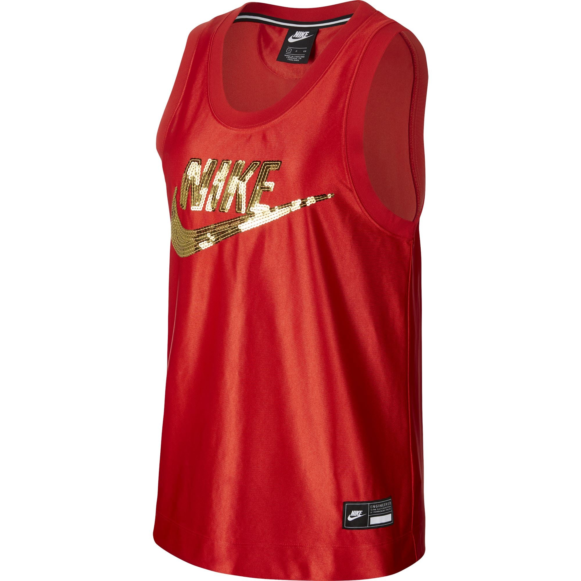 Nike Womens Sportswear Tank - University Red/Metallic Gold SP-ApparelTanks-Womens Nike