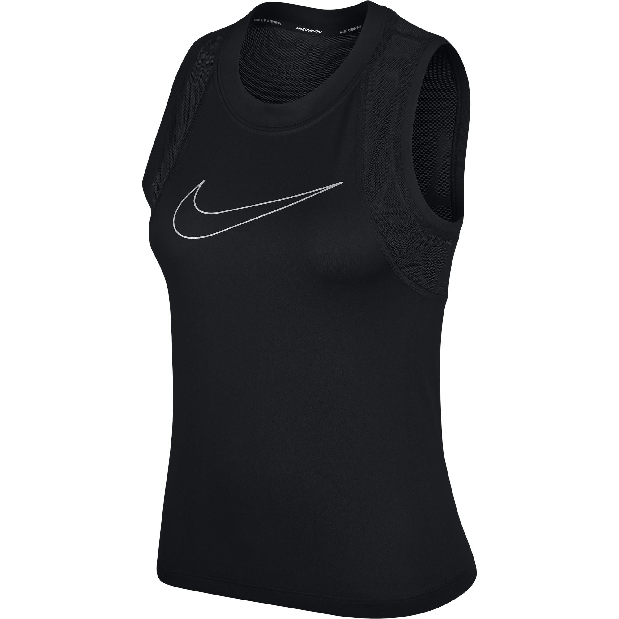 Nike Womens Miler Tanks - Black/Metallic Silver SP-ApparelTanks-Womens Nike