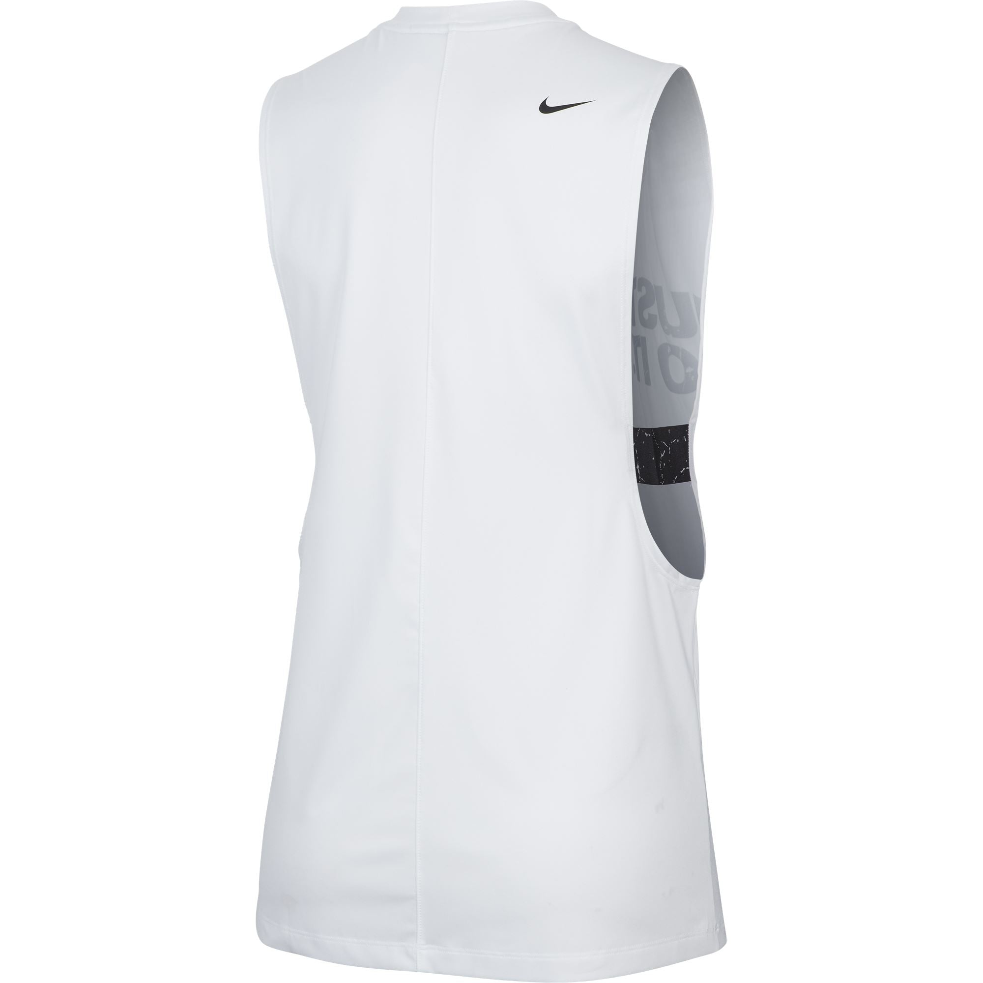 Nike Womens NP Marle GRX Loose Tank - White/Black SportsPower Geelong