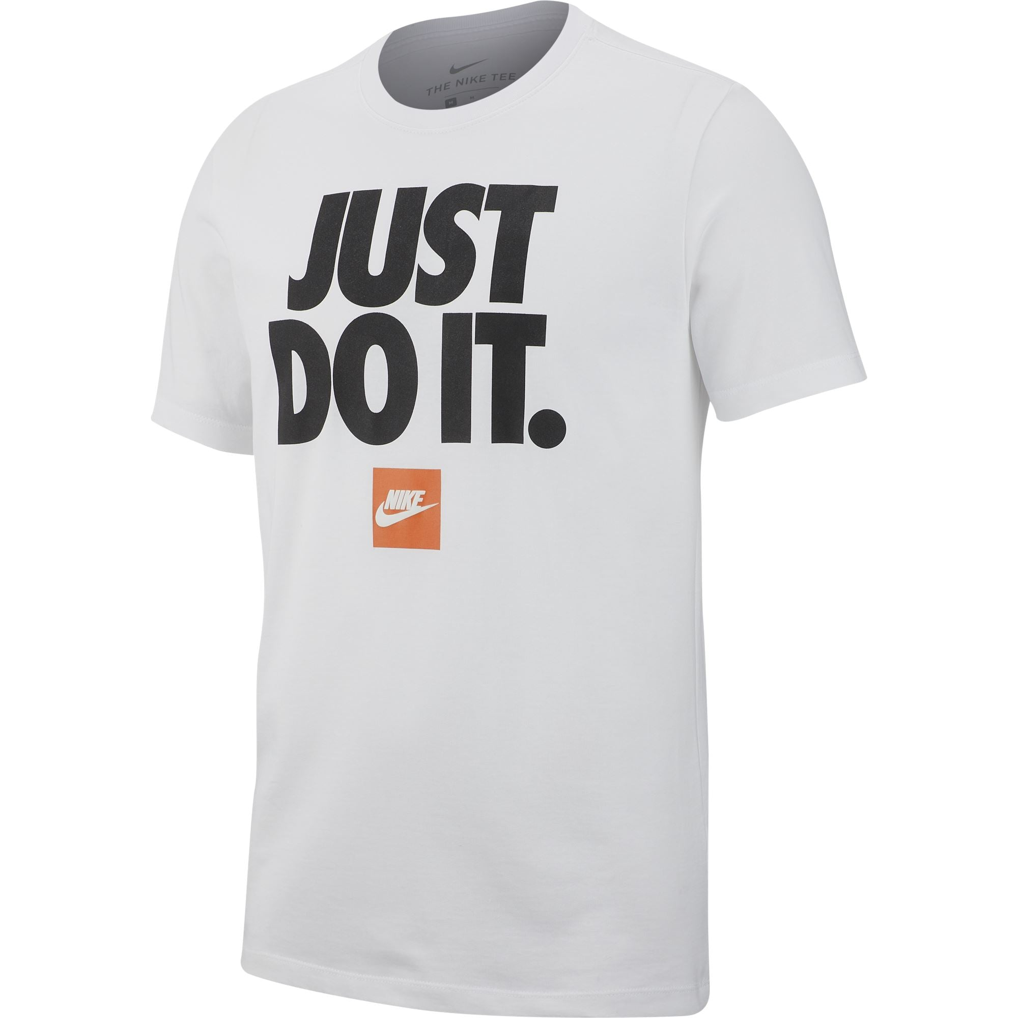 Nike Mens Just Do It Tee - White/Black Q3NIKE Nike