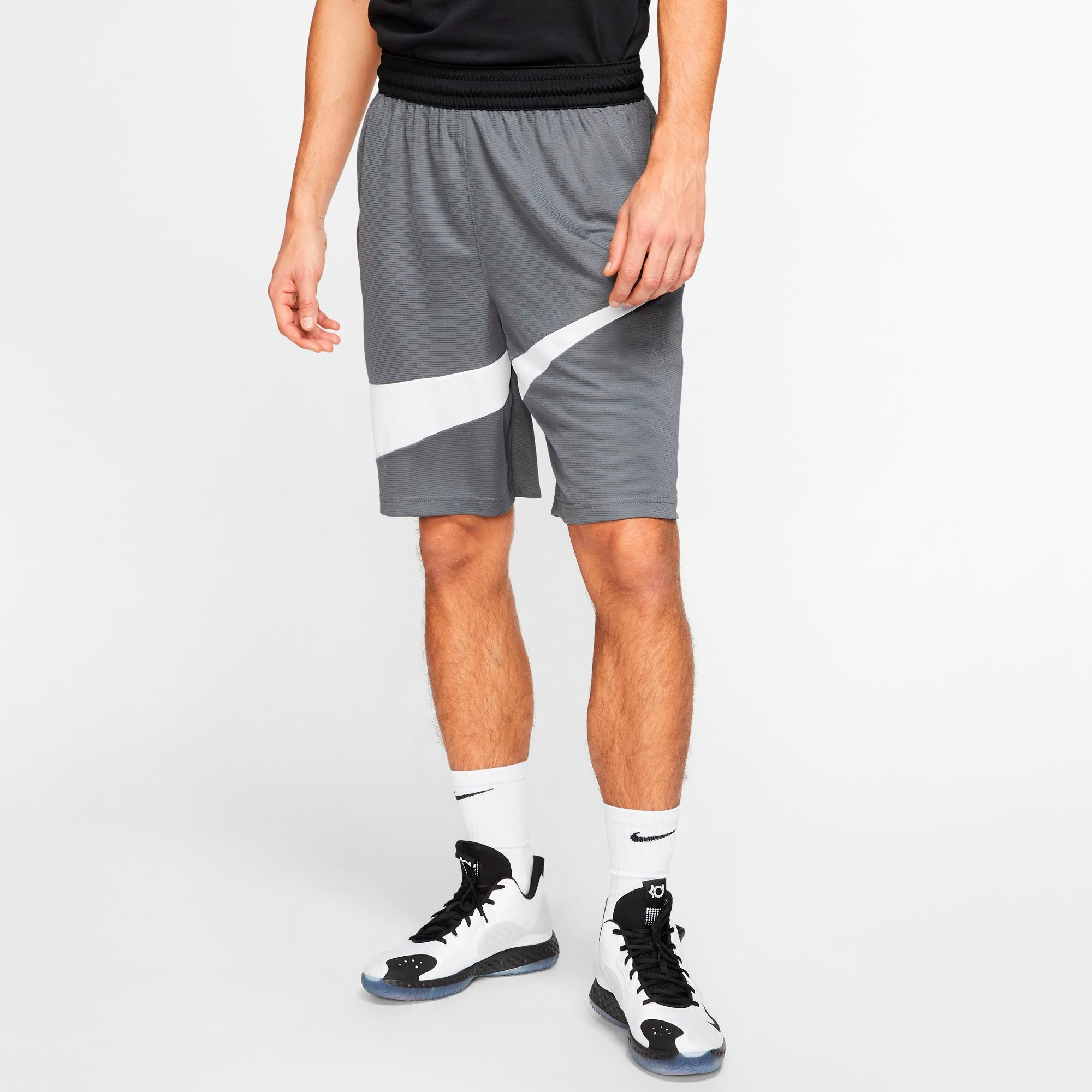 Nike Men's Dri-FIT Shorts - Iron Grey/White SP-ApparelShorts-Mens Nike