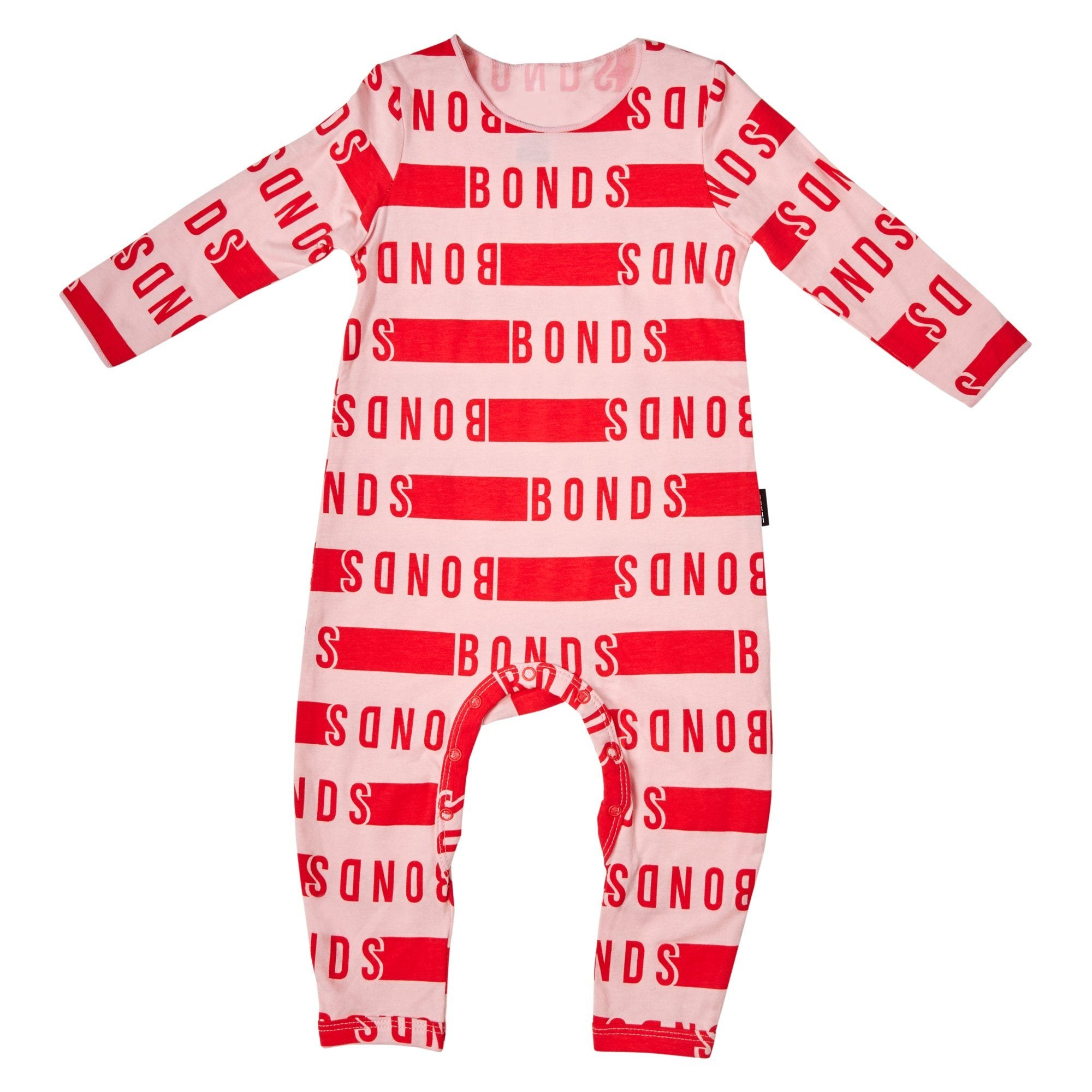 Bonds Baby Wonderbodies Pink/Red Logo Print Baby Isbister & Co Wholesale