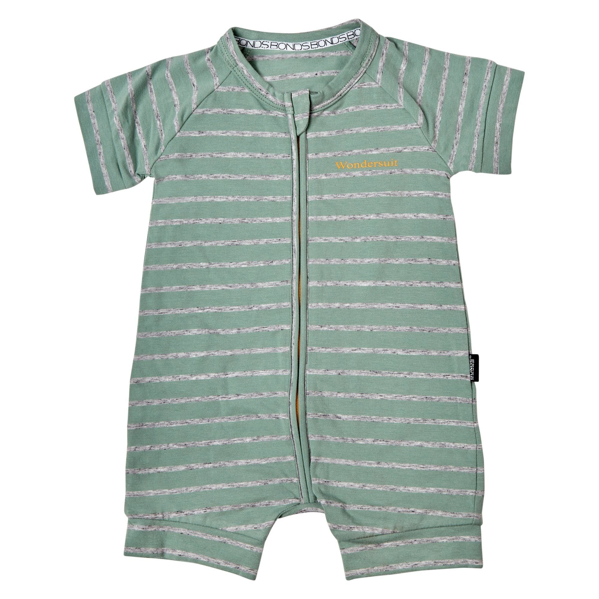 Bonds Baby Zip Wondersuit Green Stripe Baby Isbister & Co Wholesale