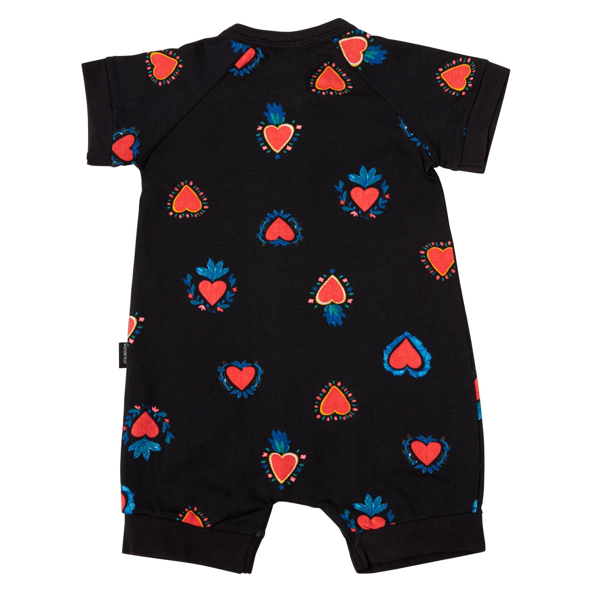 Bonds Baby Zip Wondersuit Heart Print Black Baby Isbister & Co Wholesale