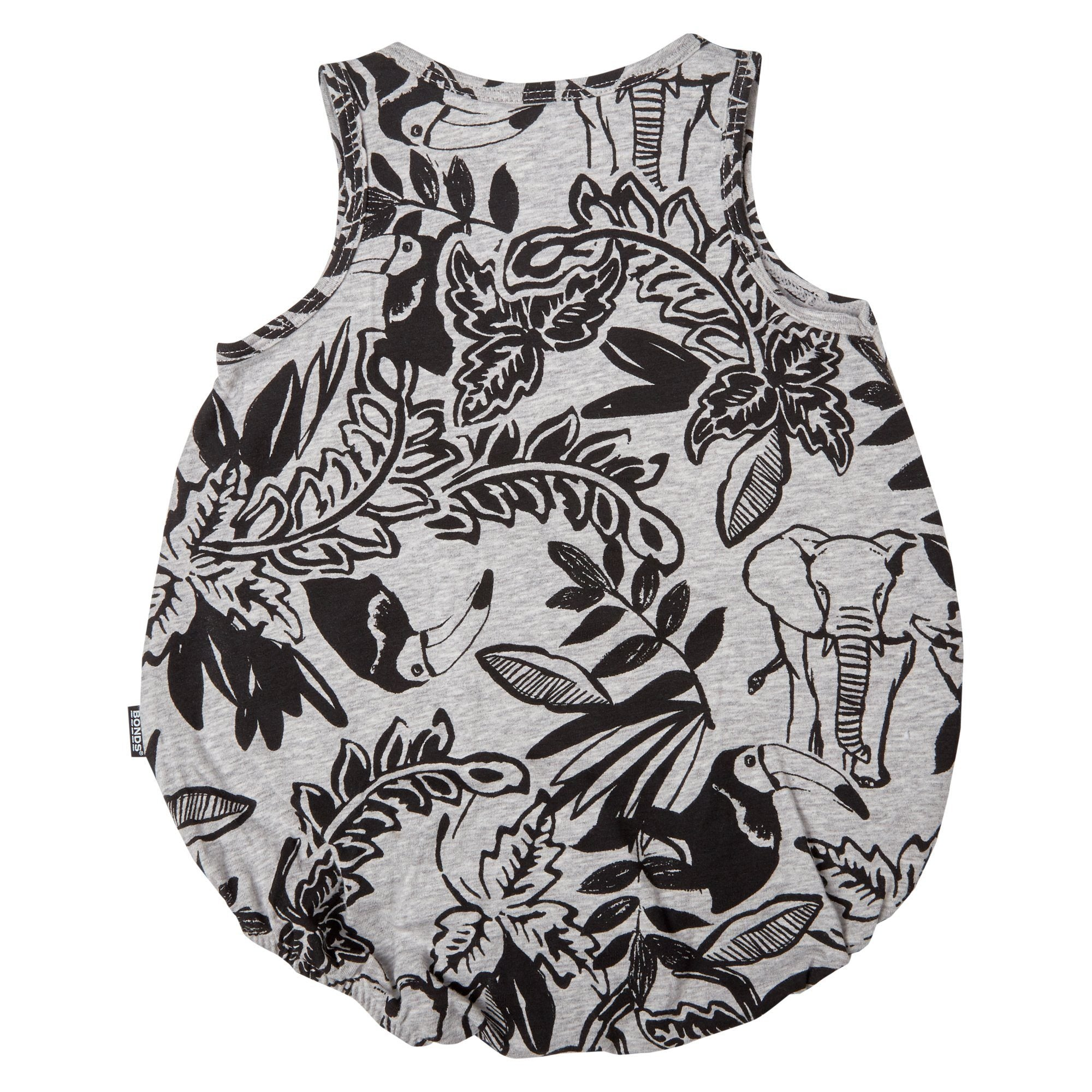Bonds Baby Stretchies Bubbleuit Jungle Print Grey Baby Isbister & Co Wholesale
