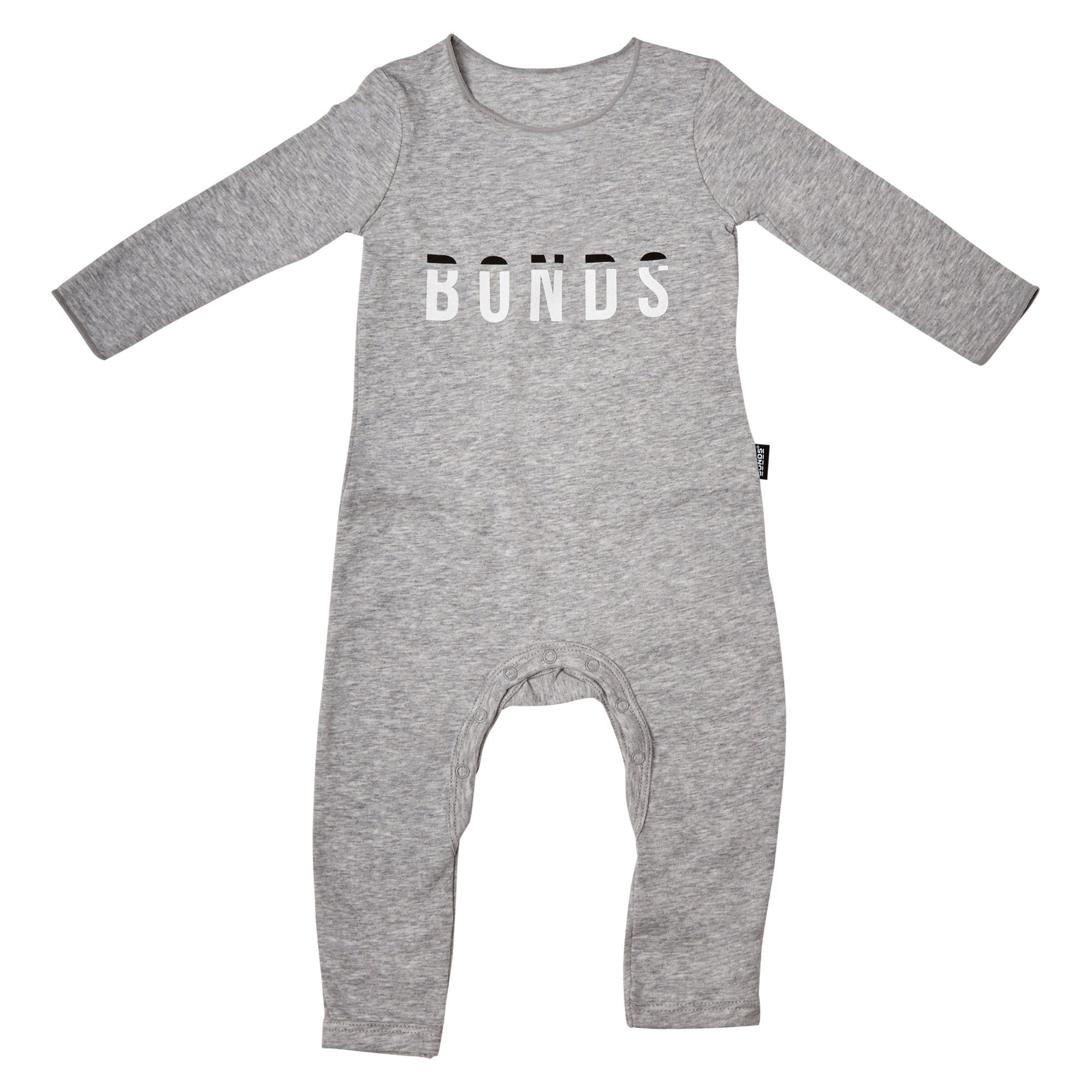 Bonds Baby Wonderbodies Logo Print Grey Baby Isbister & Co Wholesale