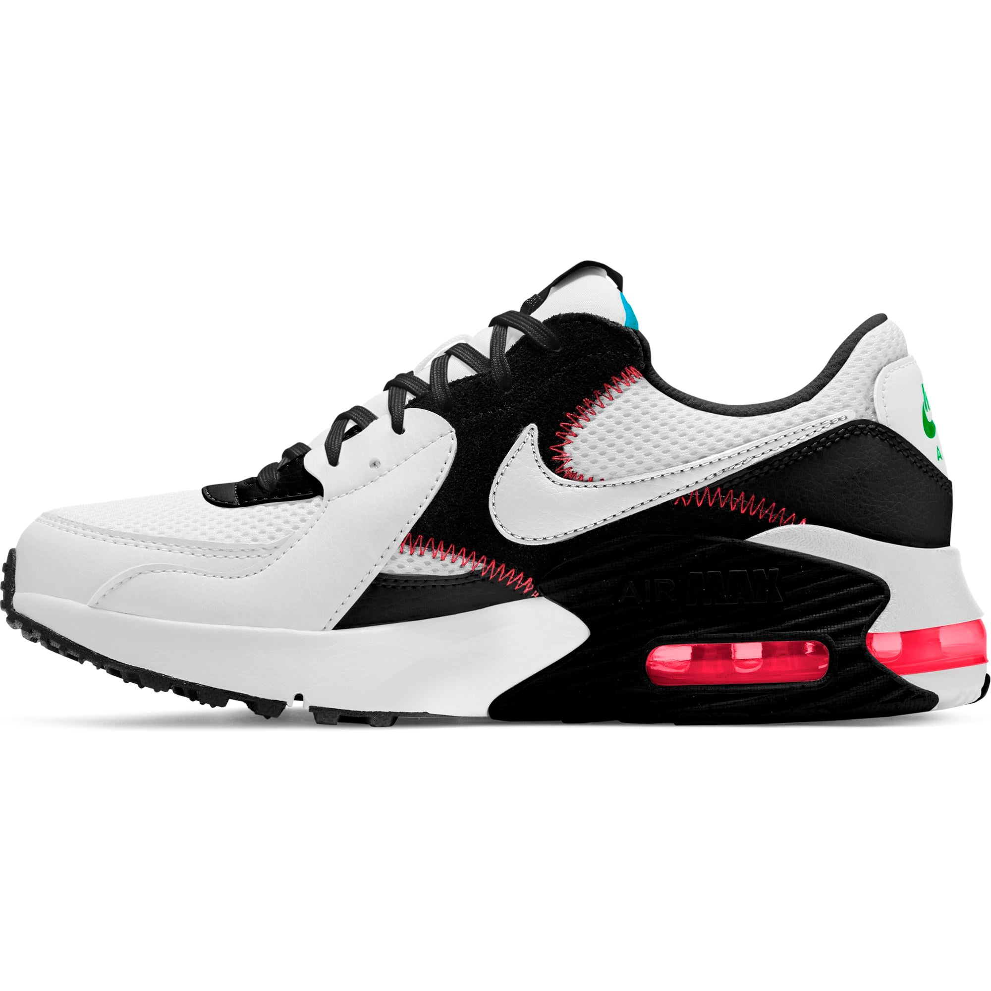 Nike Womens Air Max Excee - White/White-Black-Flash Crimson SP-Footwear-Womens Nike