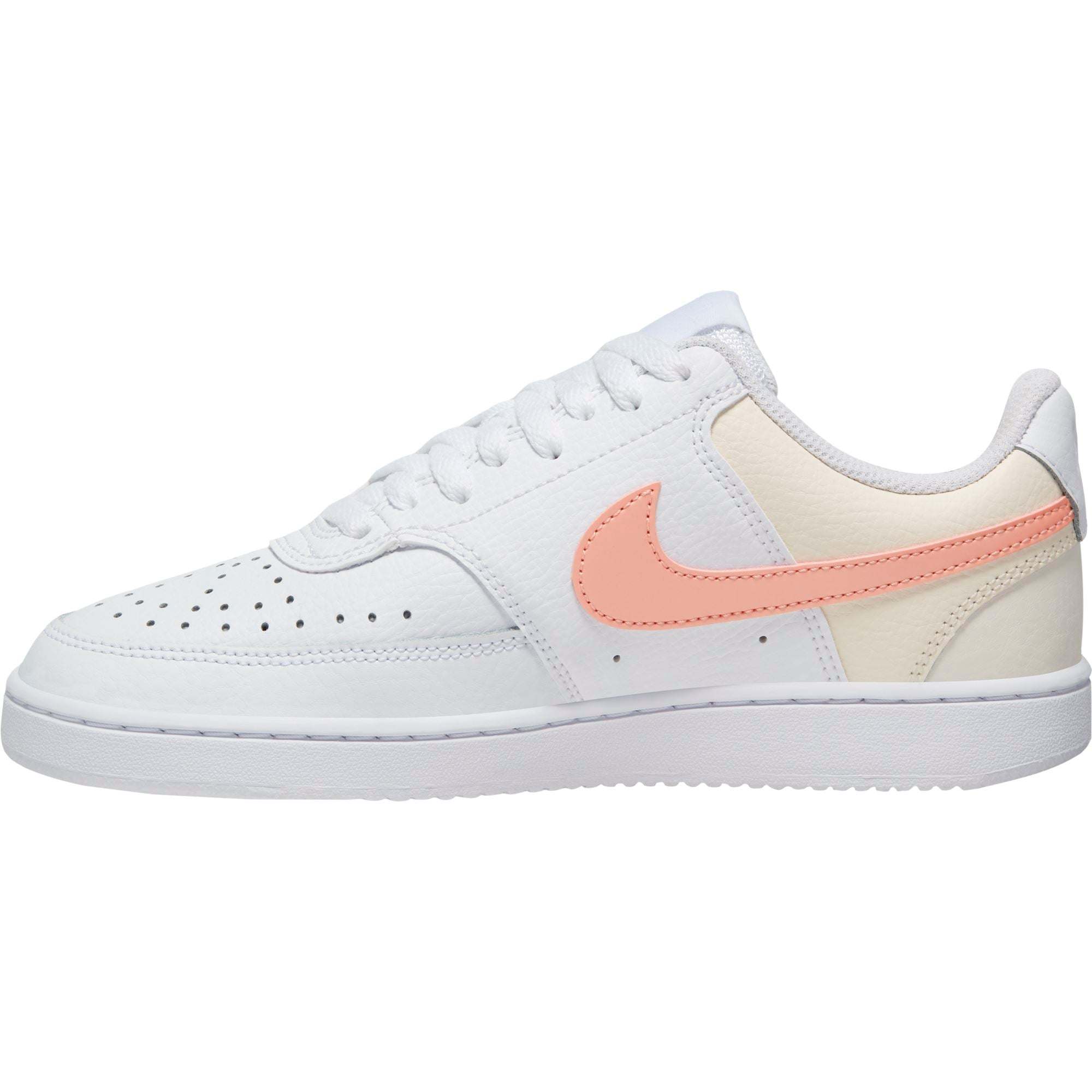 Nike Womens Court Vision Low - White/Washed Coral/Aura/PaleIvory SP-Footwear-Womens Nike