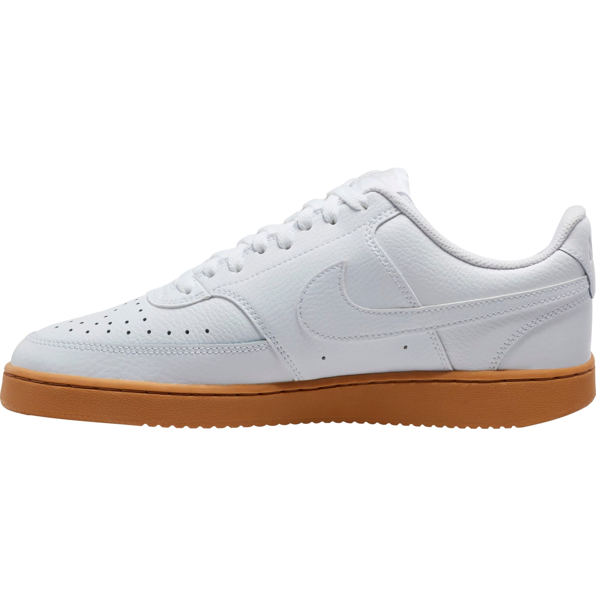 Nike Mens Court Vision Low - White/White-Photon Dust/Gum Light Brown SP-Footwear-Mens Nike