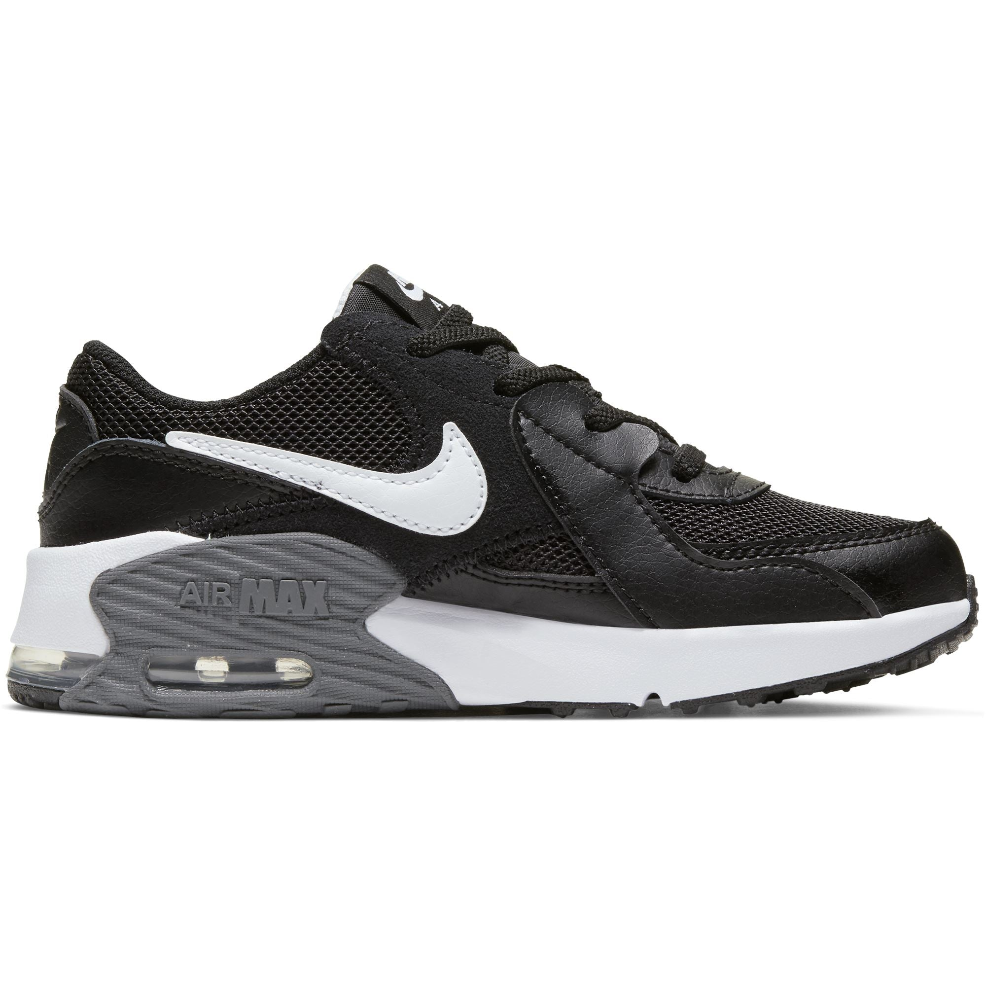 Nike Kids Air Max Excee Little Kids Shoe - Black/White-Dark Grey SP-Footwear-Kids Nike