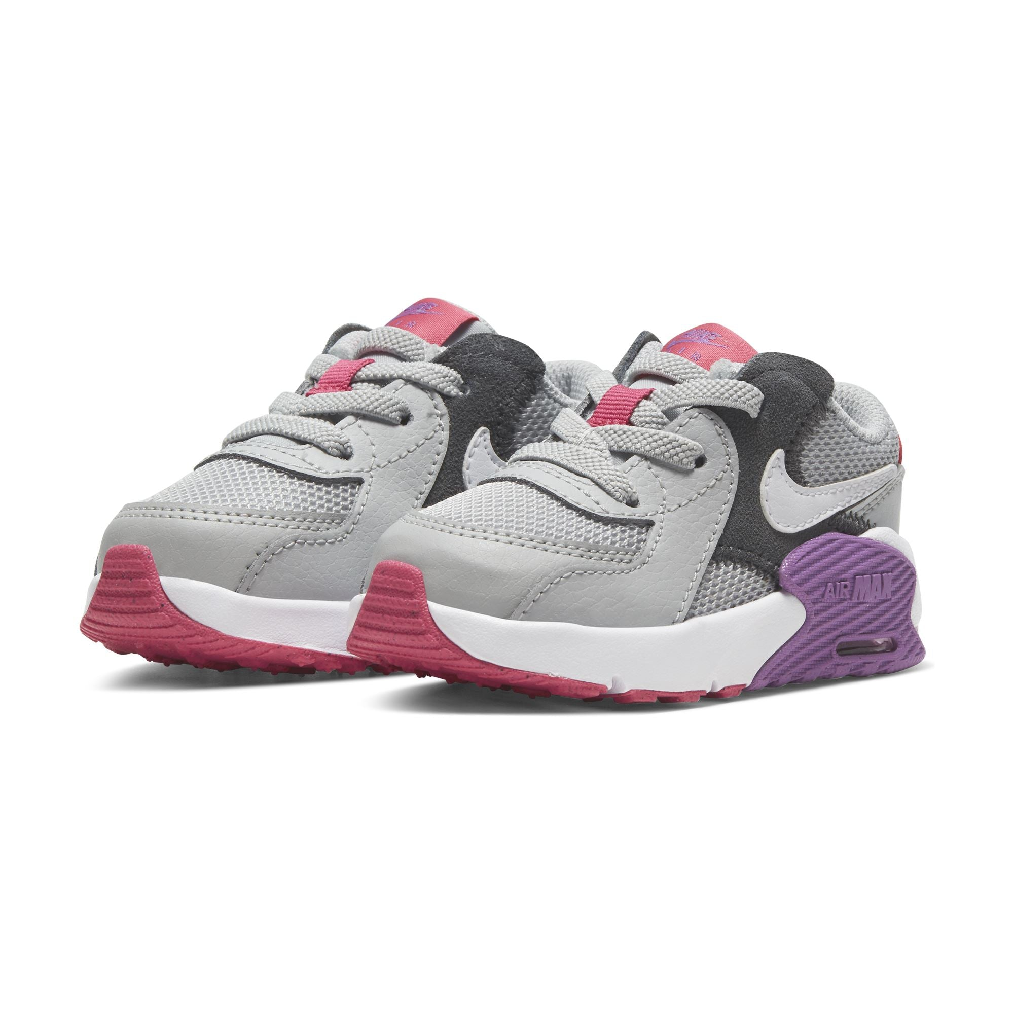 Nike Kids Air Max Excee - Grey Fog/White-Purple Nebula-Watermelon SP-Footwear-Kids Nike