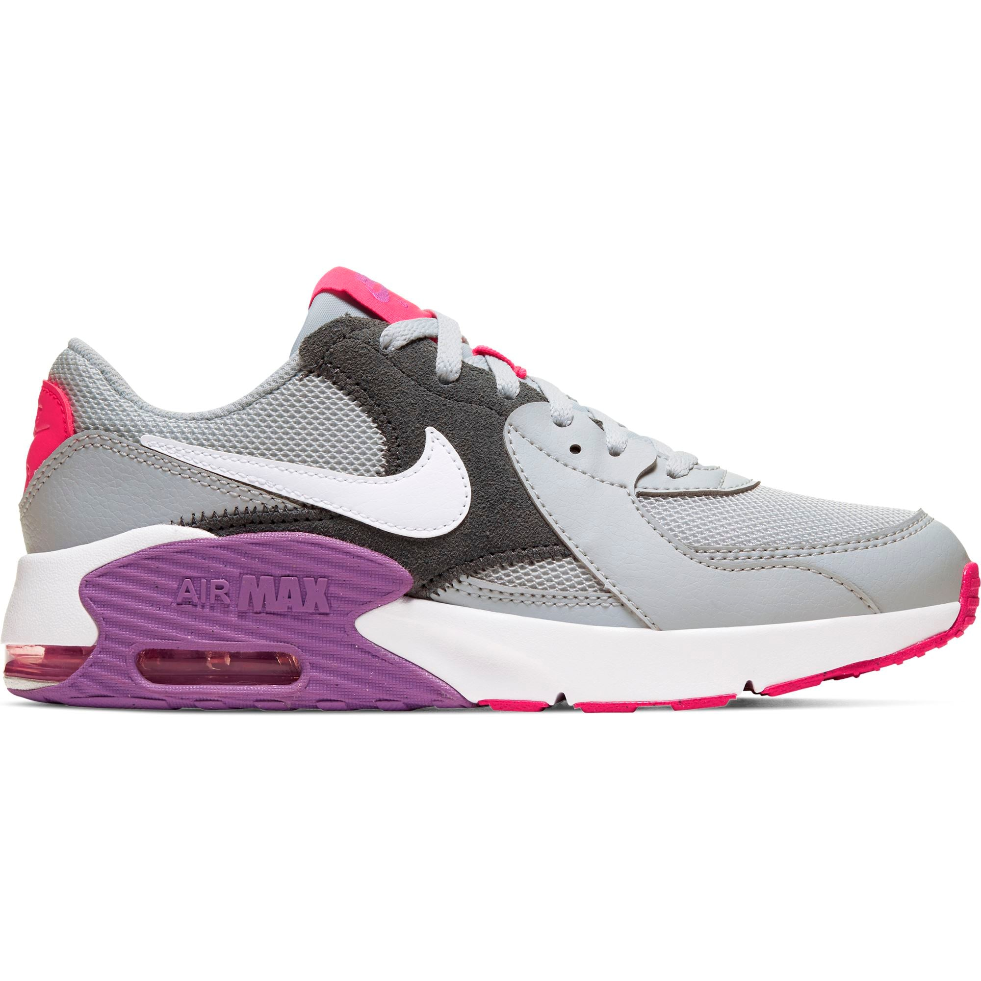 Nike Big Kids Air Max Excee - Grey Fog/White-Purple Nebula-Watermelon SP-Footwear-Kids Nike