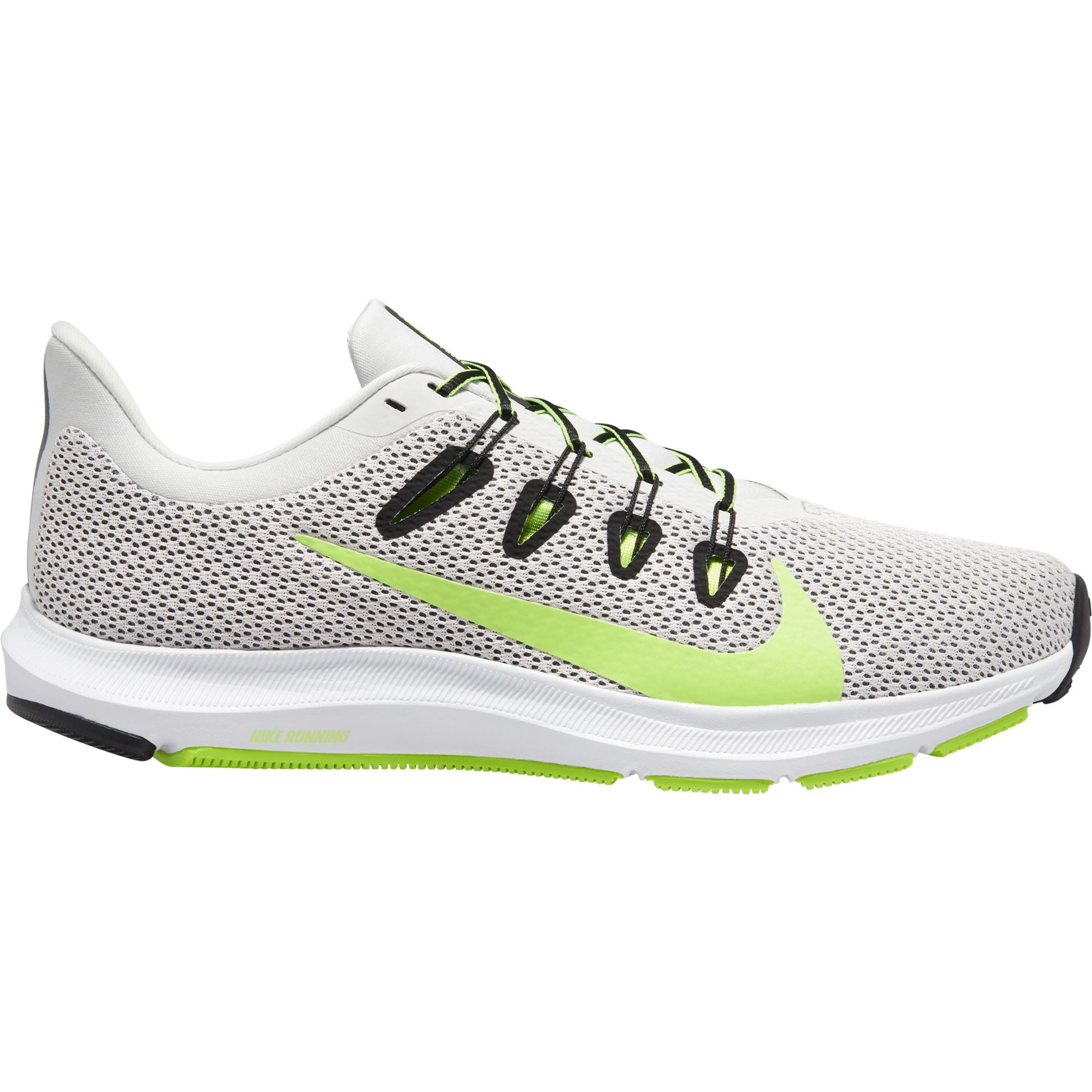 Nike Mens Quest 2 - Platinum Tint/Electric Green-Black-White Q3NIKE Nike