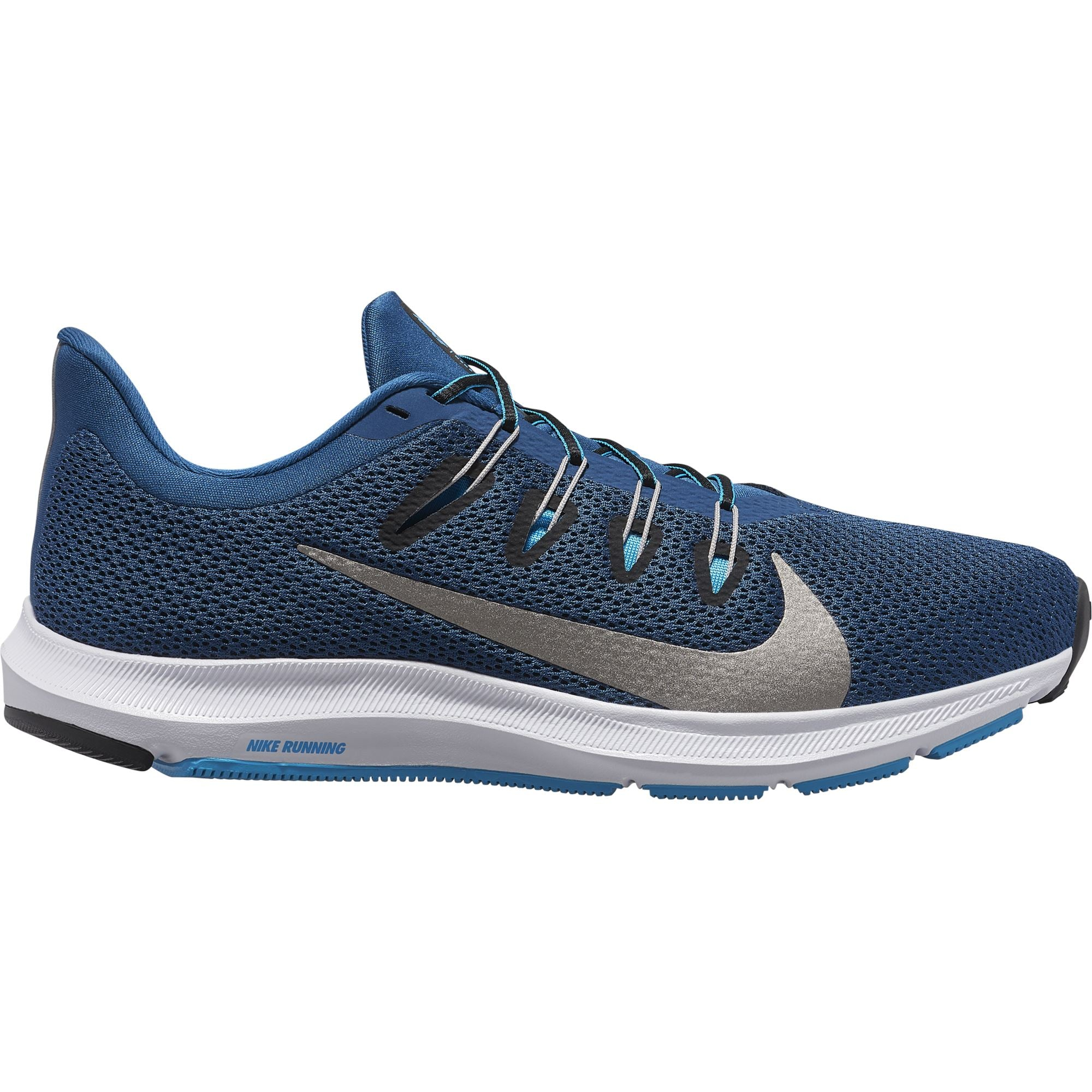 Nike Mens Quest 2 - Blue Force/Mtlc Pewter-Lt Current Blue Q3NIKE Nike