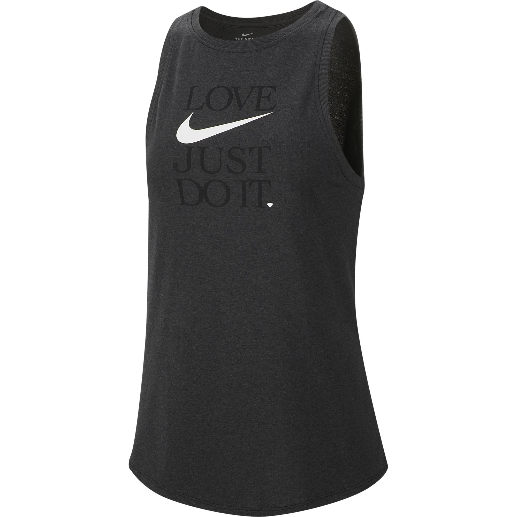 Nike Womens Yoga Dri-Fit Tank - Black/Anthracite/White SP-ApparelTanks-Womens Nike
