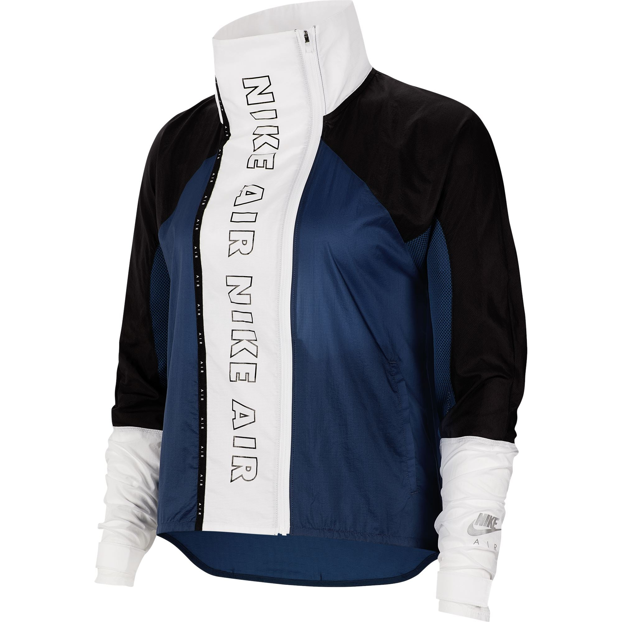 Nike Air Womens Full-Zip Running Jacket - Valerian Blue/Black/White/Black SP-ApparelJacket-Womens Nike