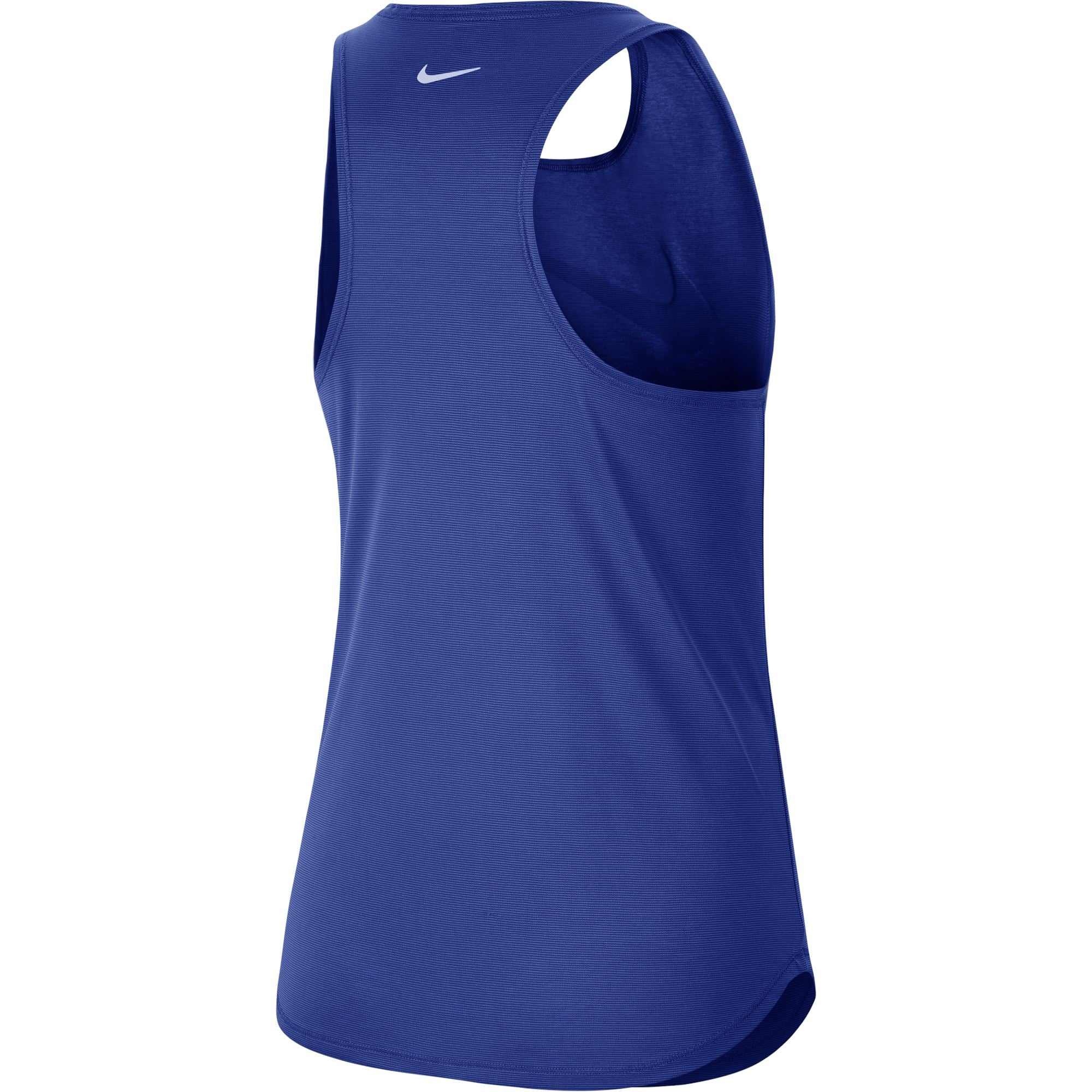 Nike Womens Swoosh Run Running Tank - Game Royal/White SP-ApparelTanks-Womens Nike