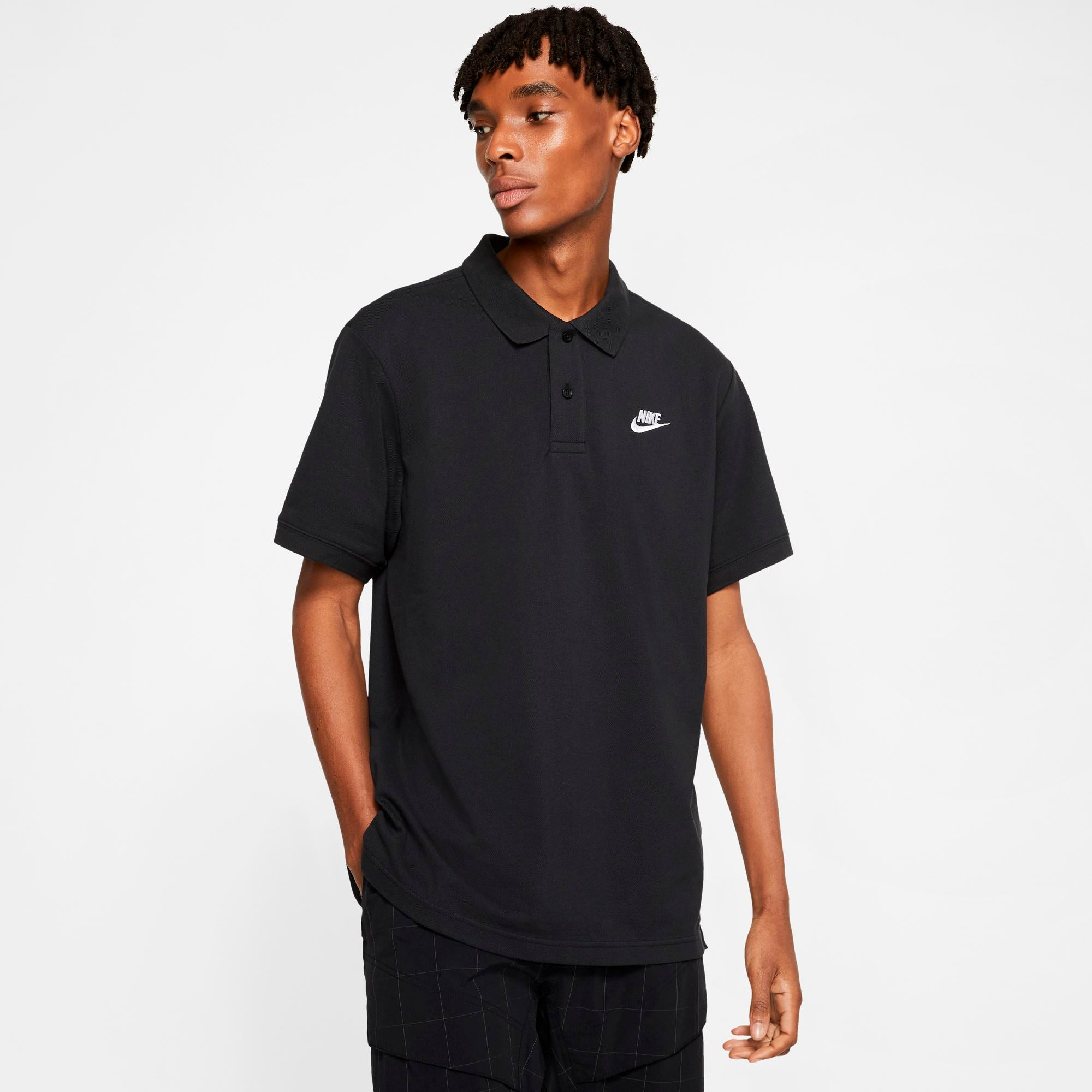 Nike Mens Sportswear Polo - Black/White SP-ApparelTees-Mens Nike