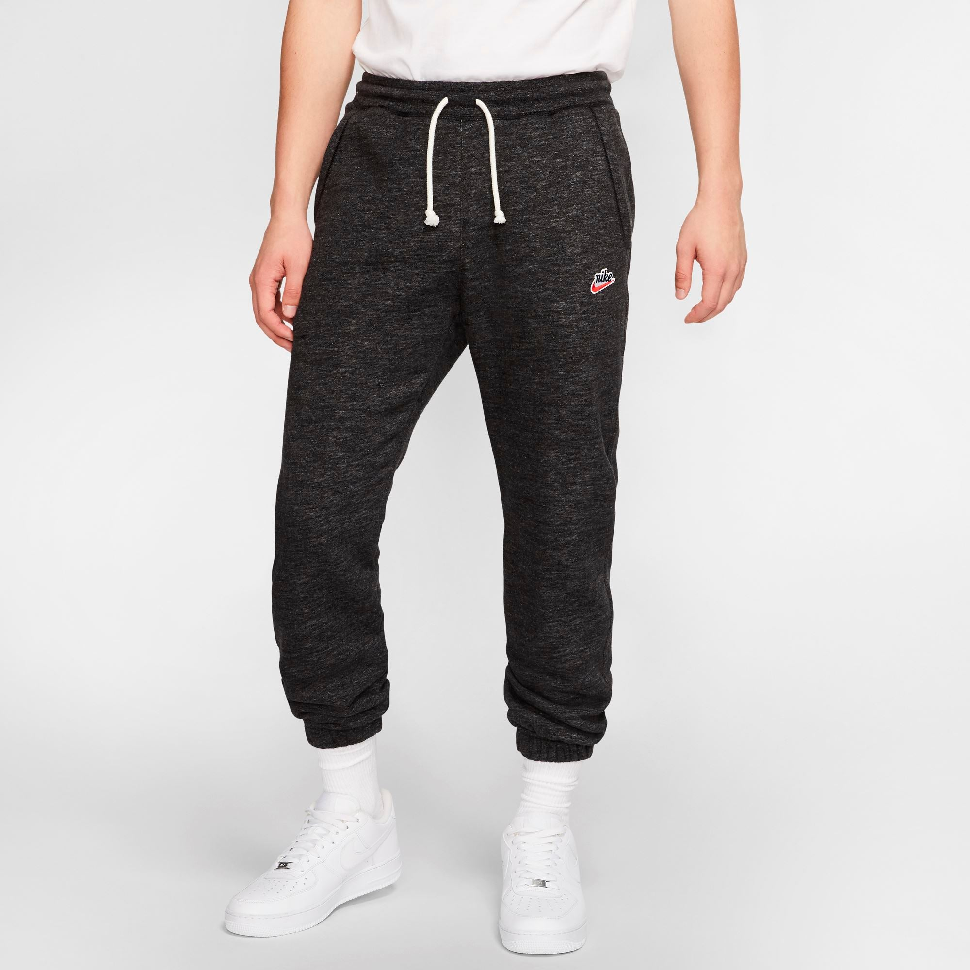 Nike Mens Heritage Pants - Black/Htr/Sail SP-ApparelFleece-Mens Nike