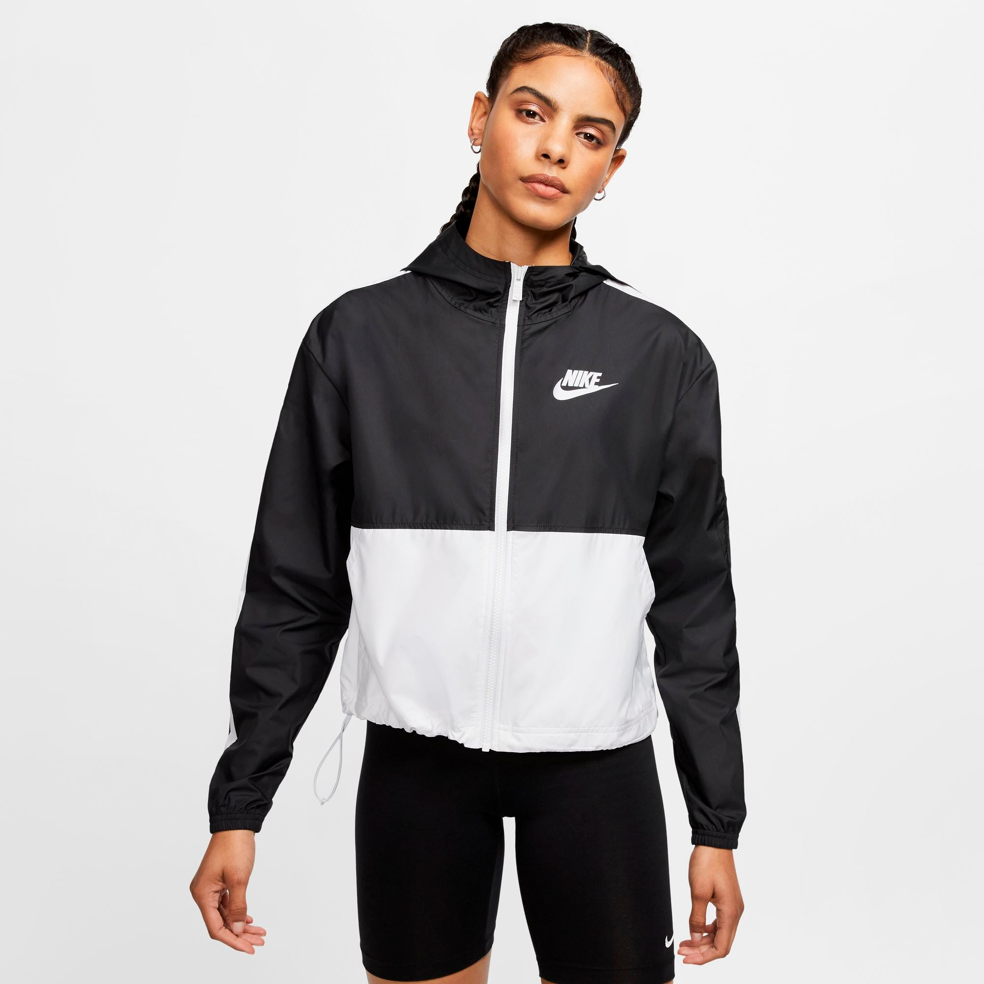 Nike Womens Sportswear Woven Jacket - Black/White Nike