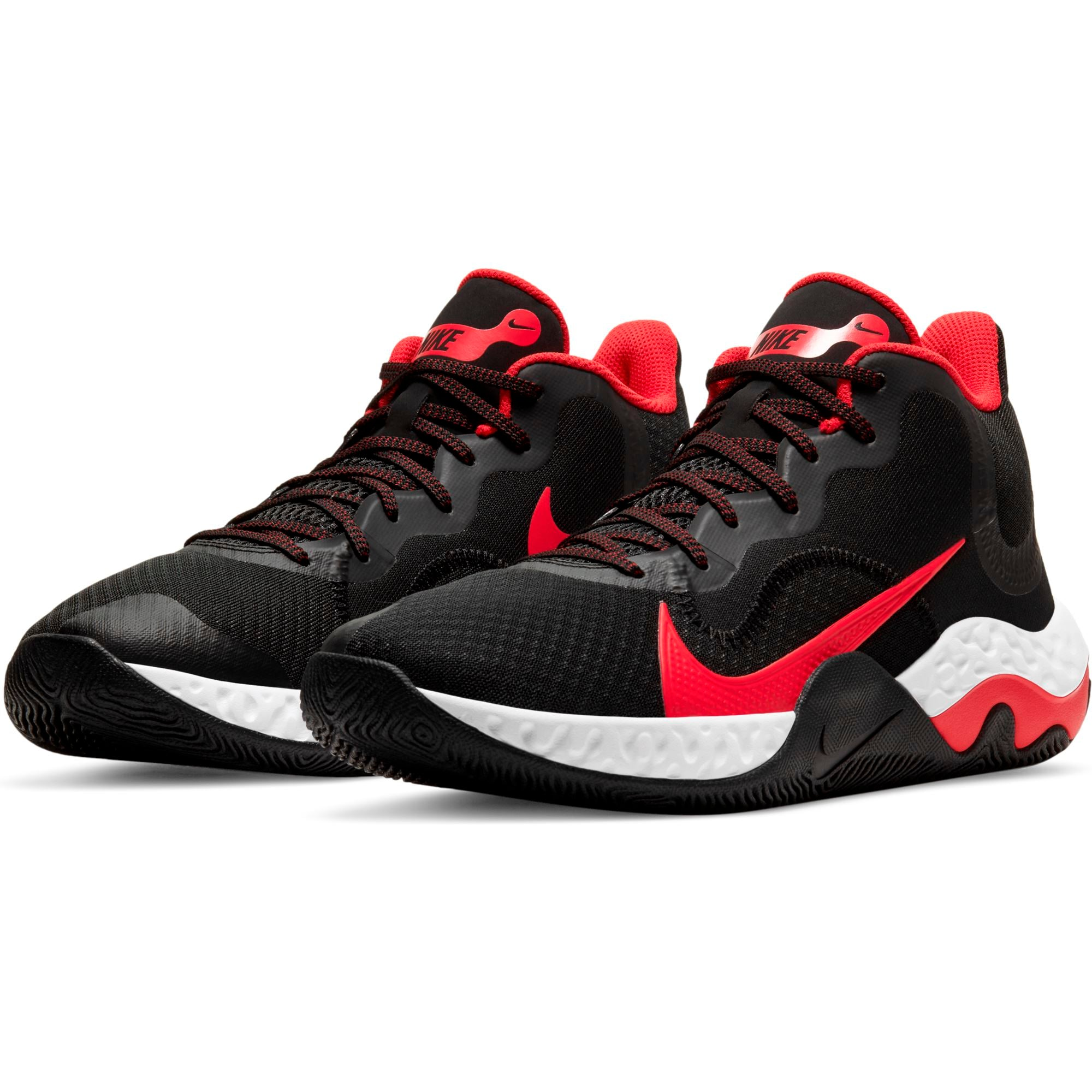 Nike Mens Renew Elevate - Black/University Red/White SP-Footwear-Mens Nike