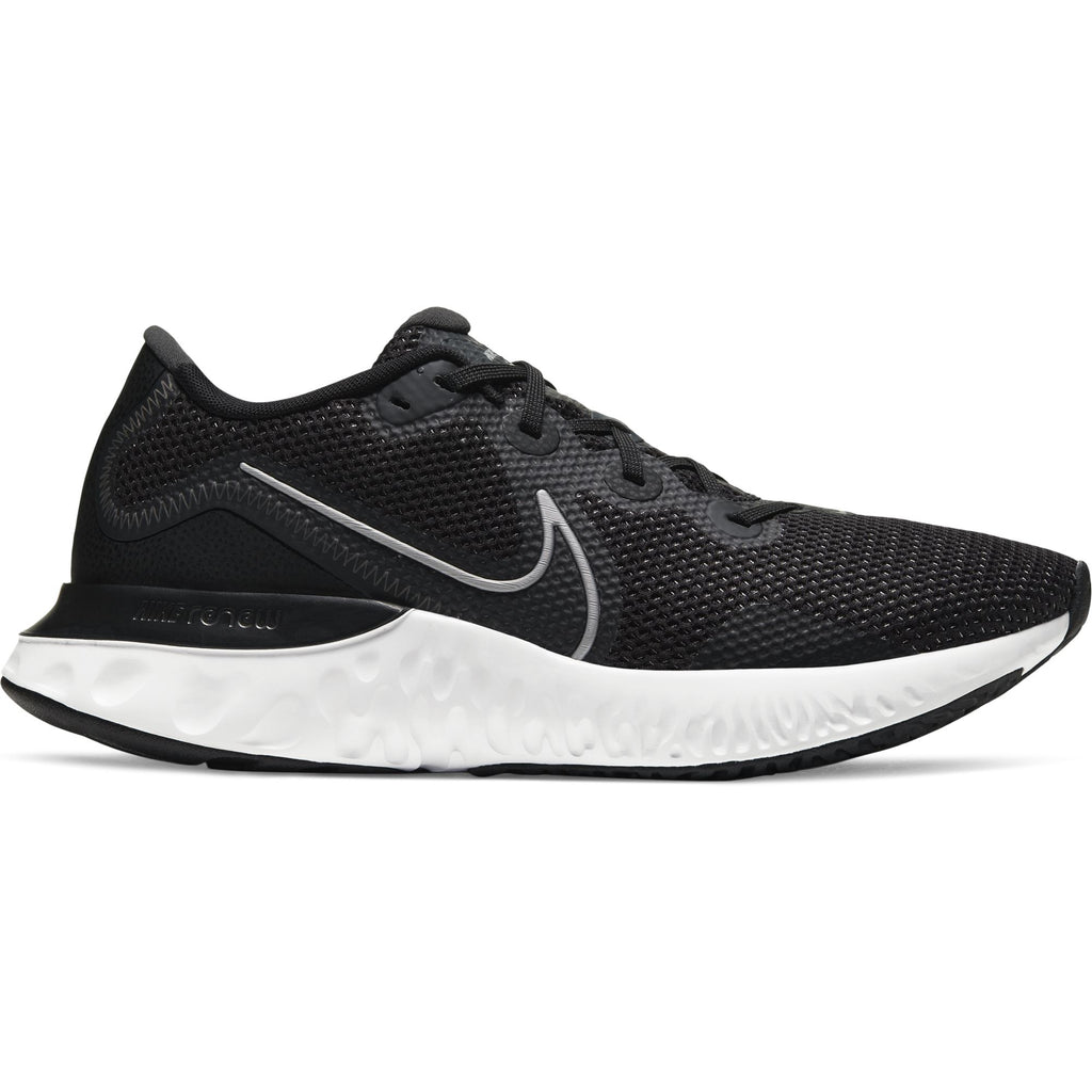 Nike Mens Renew Run Running Shoe BlackMetallic Silver