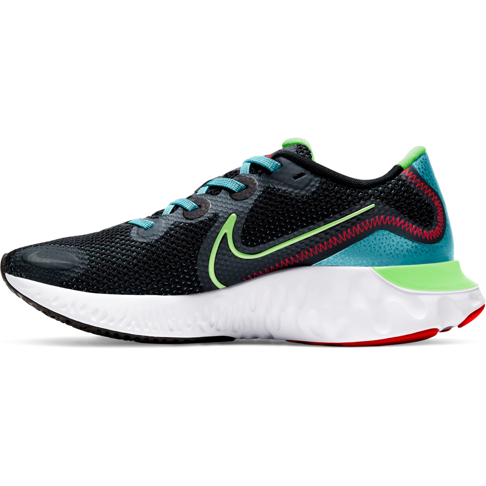 Nike Womens Renew Run - Black/Barely Volt/Glacier Ice SP-Footwear-Womens Nike