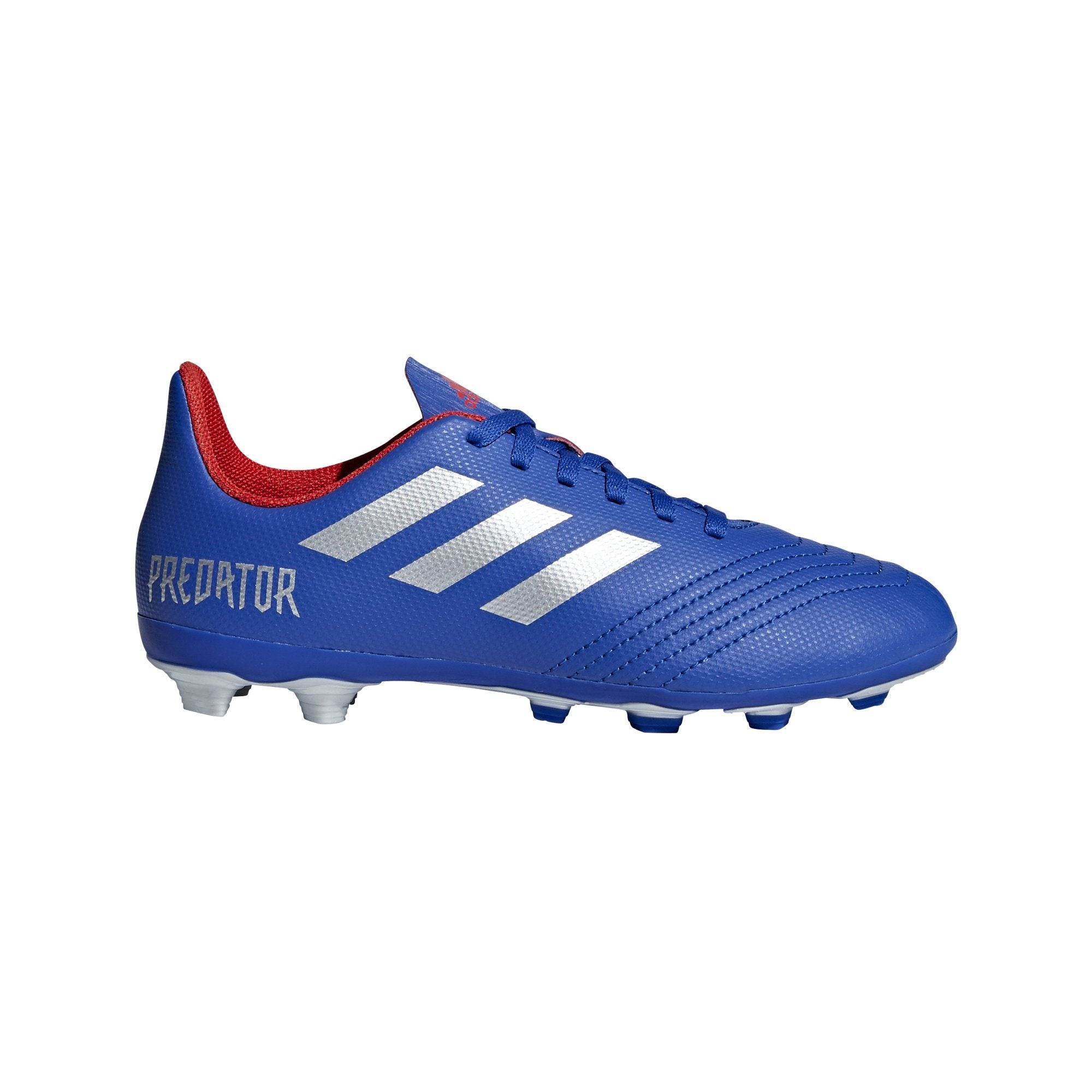Adidas Boys Predator 19.4 Flexible Ground Boots - bold blue/silver met./active red SP-FOOTWEAR-KIDS Adidas