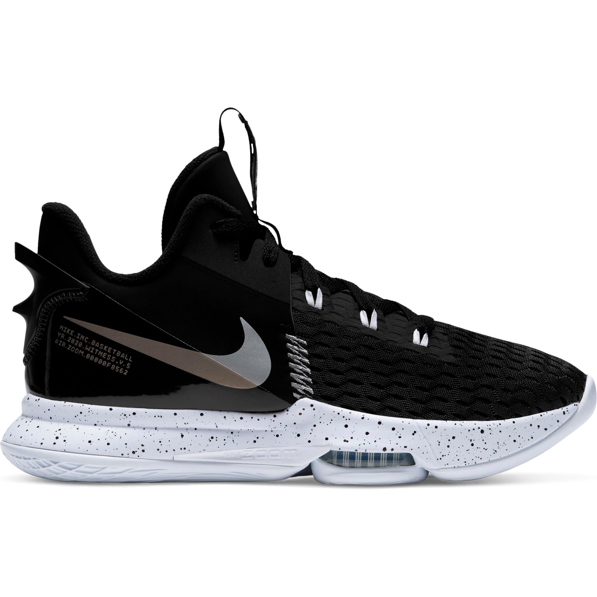 Nike Lebron Witness 5 - Black/Metallic Silver-White SP-Footwear-Mens Nike