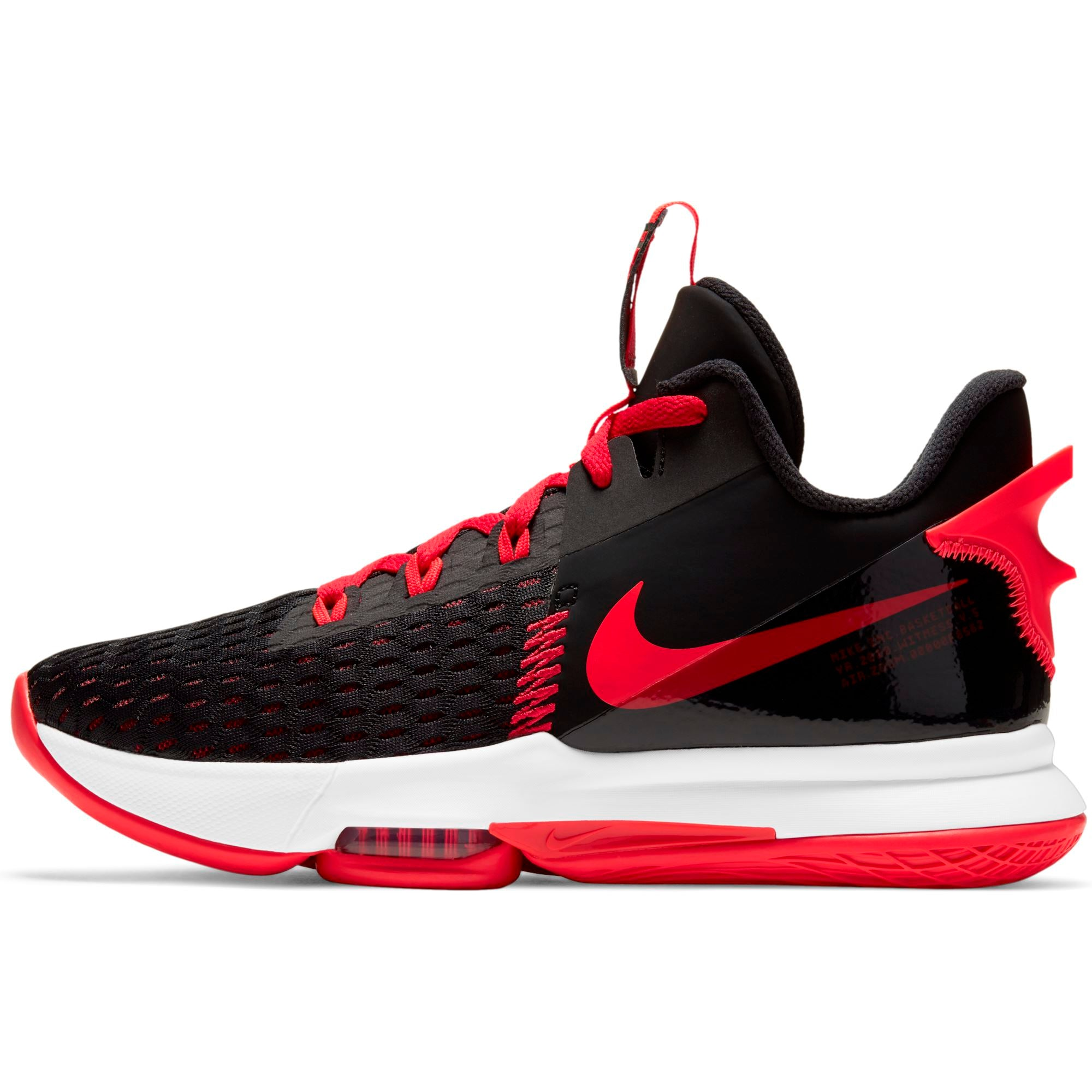Nike Lebron Witness 5 - Black/Bright Crimson-University Red SP-Footwear-Mens Nike