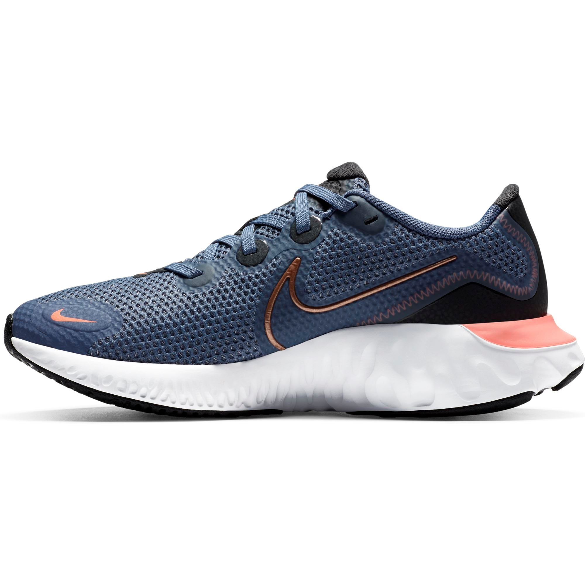 Nike Kids Renew Run (Big Kids) - World Indigo/Mtlc Red Bronze SP-Footwear-Kids Nike