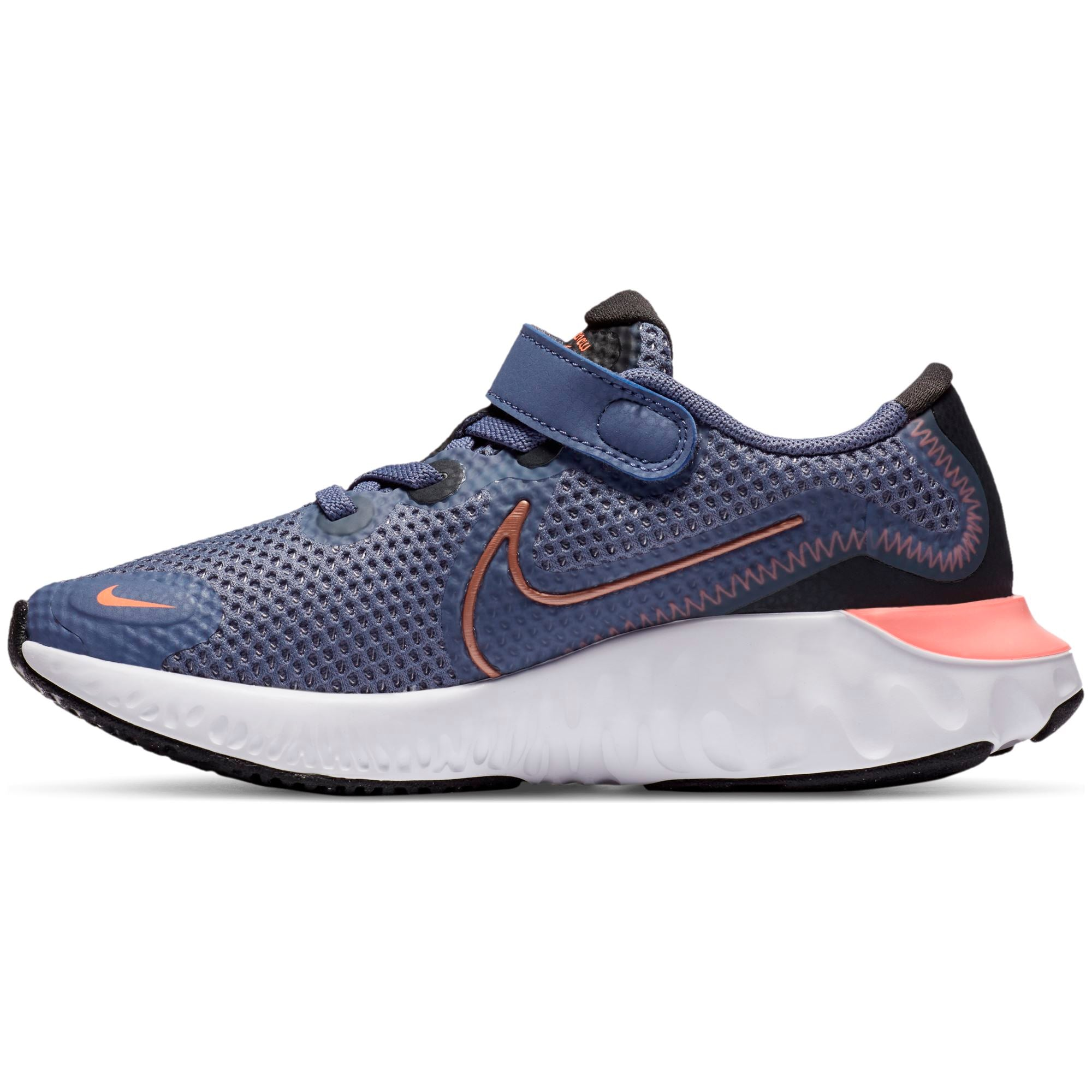 Nike Kids Renew Run - World Indigo/Mtlc Red Bronze/World Indigo/Mtlc Red Bronze SP-Footwear-Kids Nike