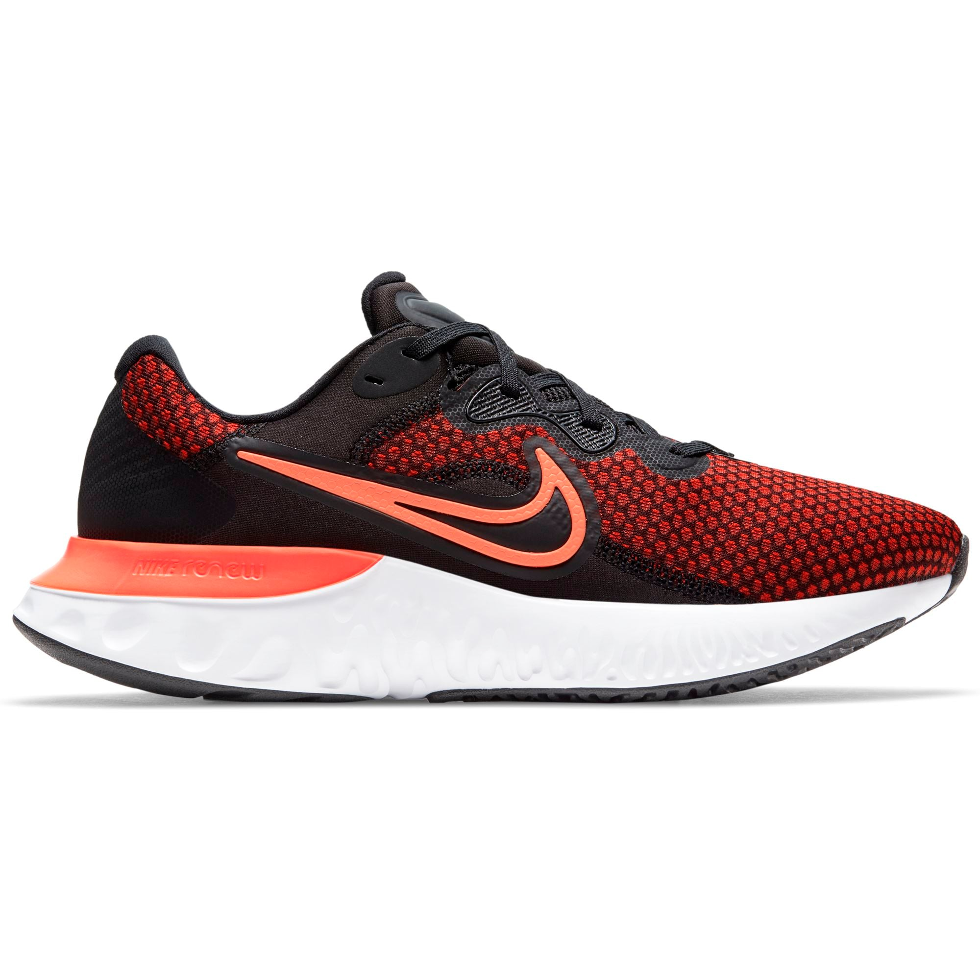 Nike Mens Renew Run 2 - Black/Hyper Crimson-Chile Red-Green Glow SP-Footwear-Mens Nike