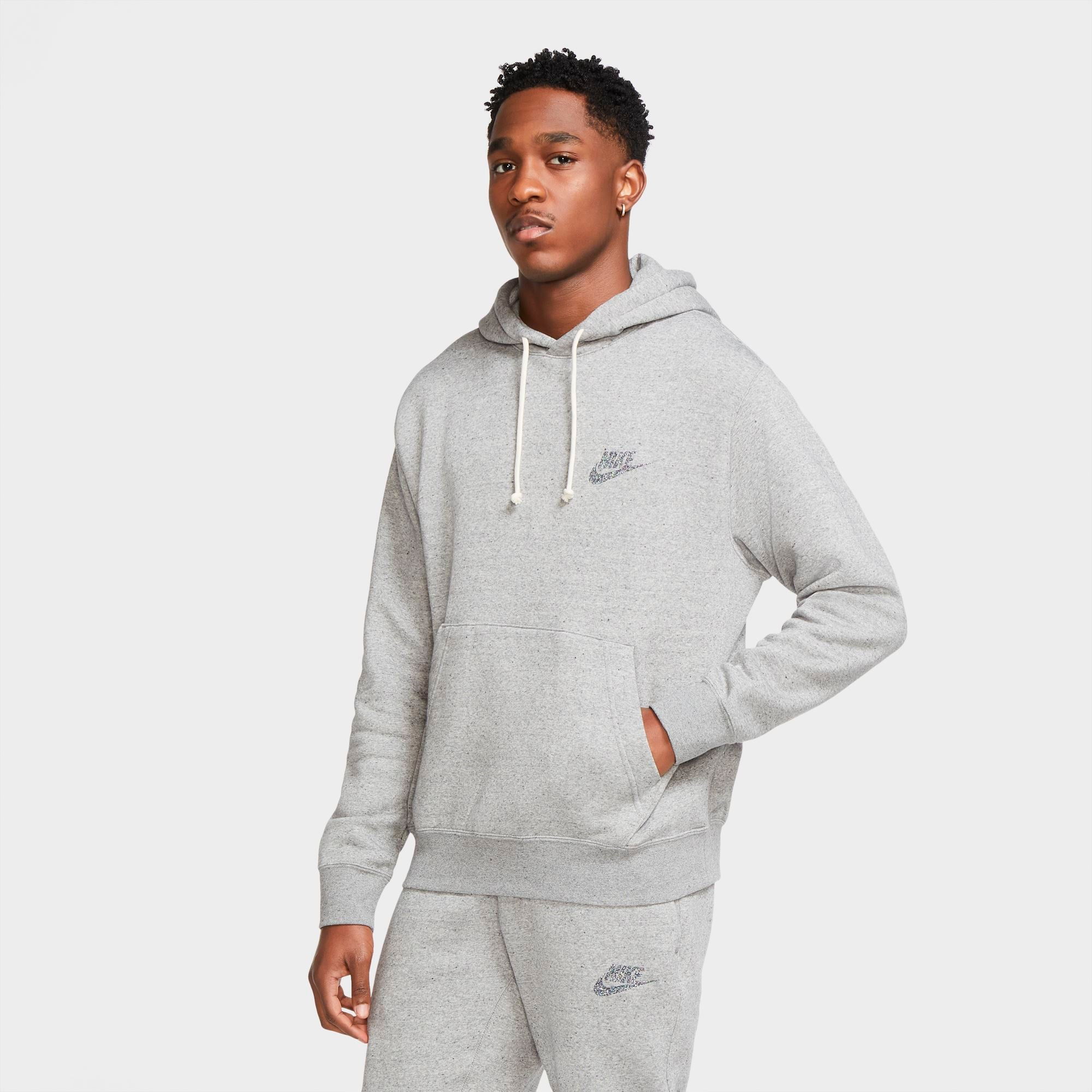 Nike Men's Sportswear Hoodie PO SB - Grey/Multicolour/Black/Multicolour SP-ApparelFleece-Mens Nike