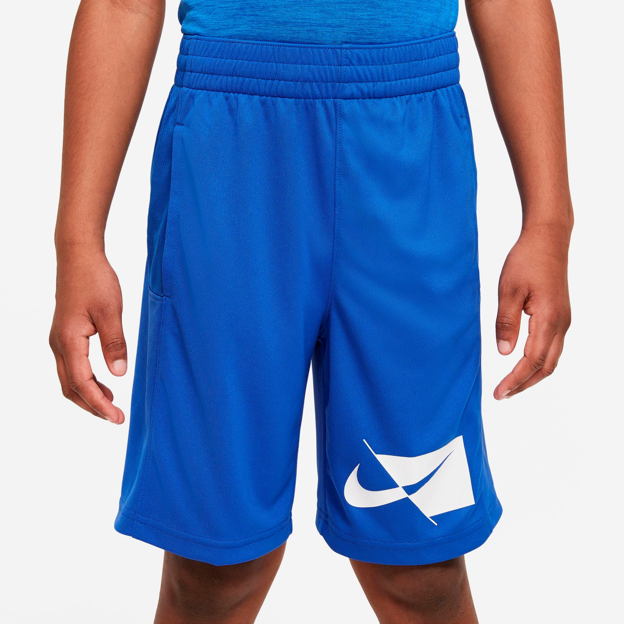 Nike Boys Dri-FIT Miler Tee - Game Royal/White SP-ApparelTees-Mens Nike
