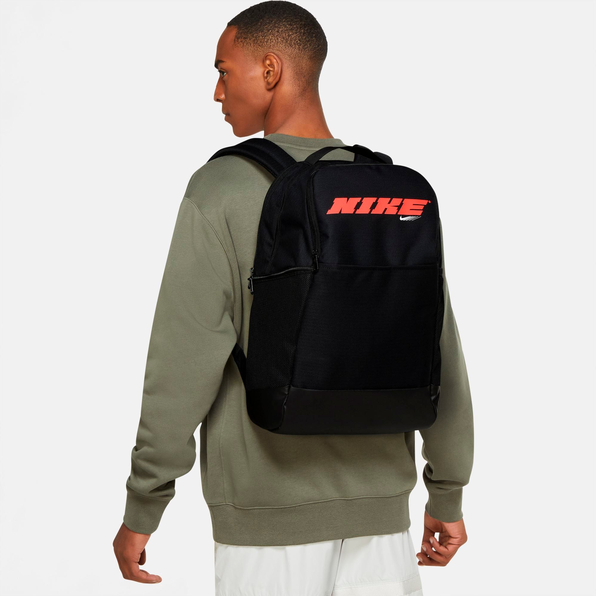 Nike Brasilia Training Backpack - Black/Bright Crimson SP-Accessories-Bags Nike