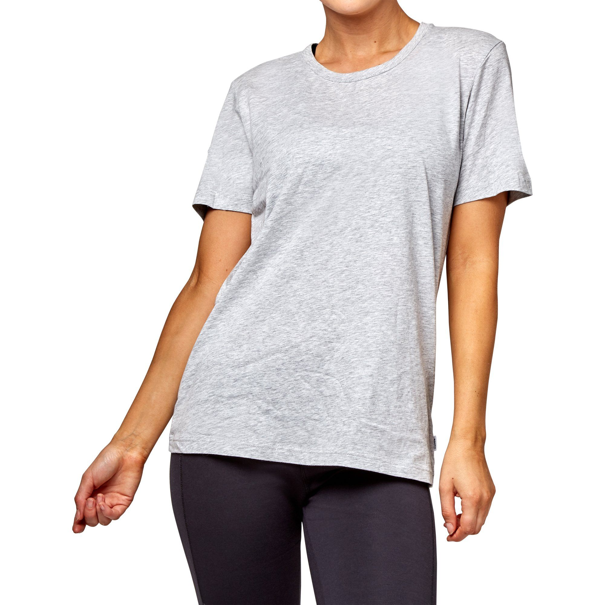 Bonds Women's Crew Tee LSJ - New Grey Marble Apparel Bonds