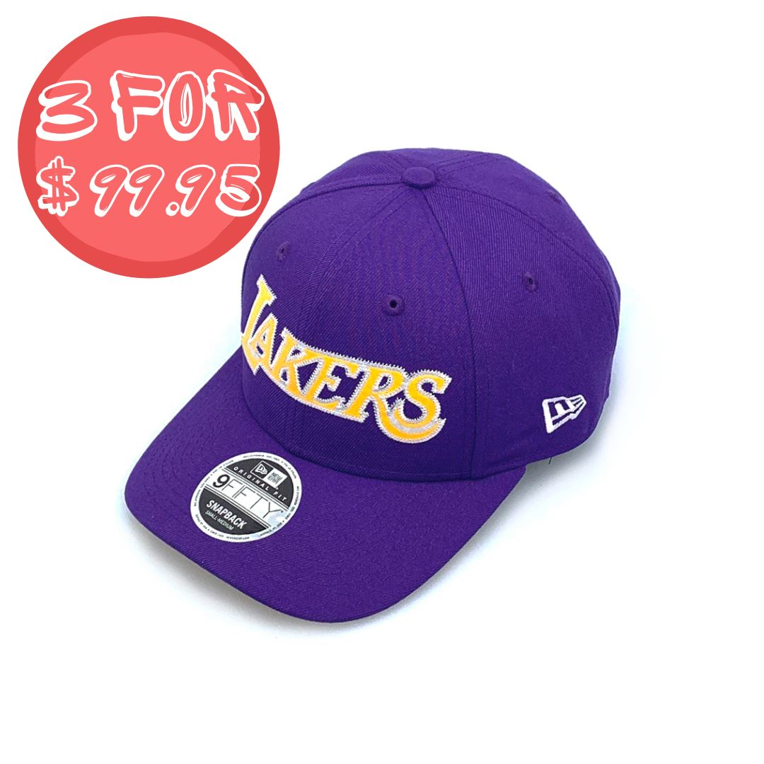 New Era 9FIFTY Original Fit Basketball Jersey - Los Angeles Lakers Purple SP-Headwear-Caps New Era